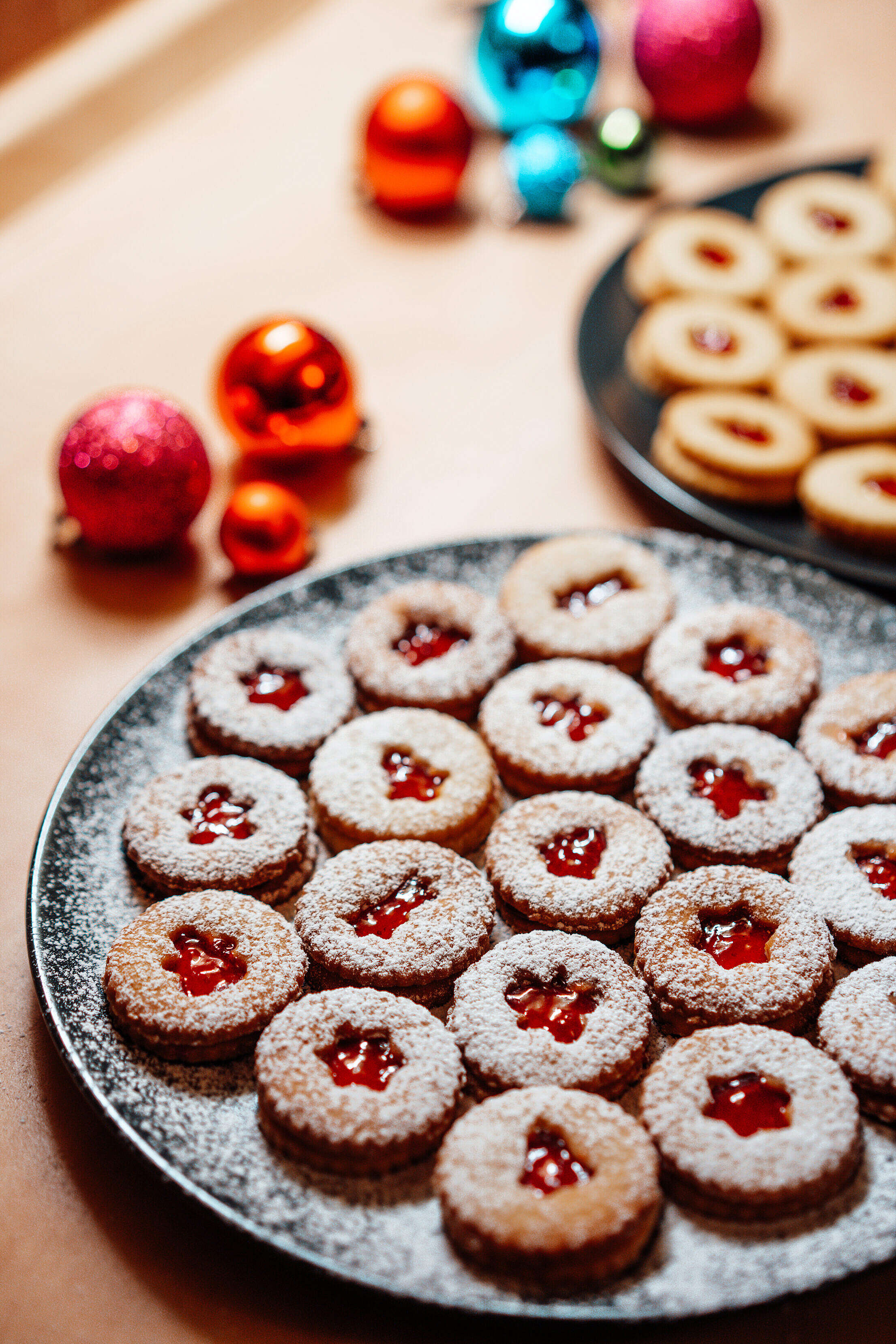 Christmas Linzer Sweets Free Stock Photo