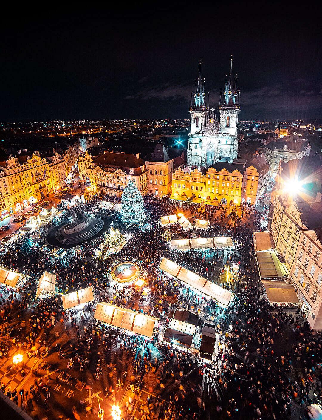 Download Christmas Market in Prague FREE Stock Photo
