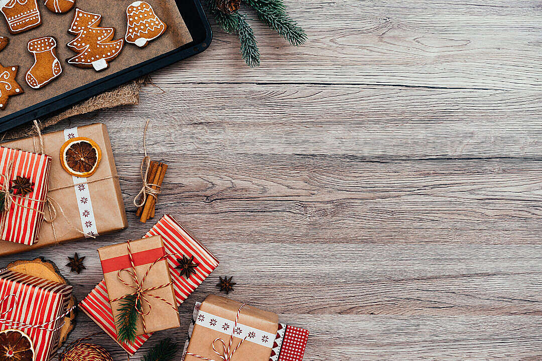 Download Christmas Photo with Space for Text FREE Stock Photo