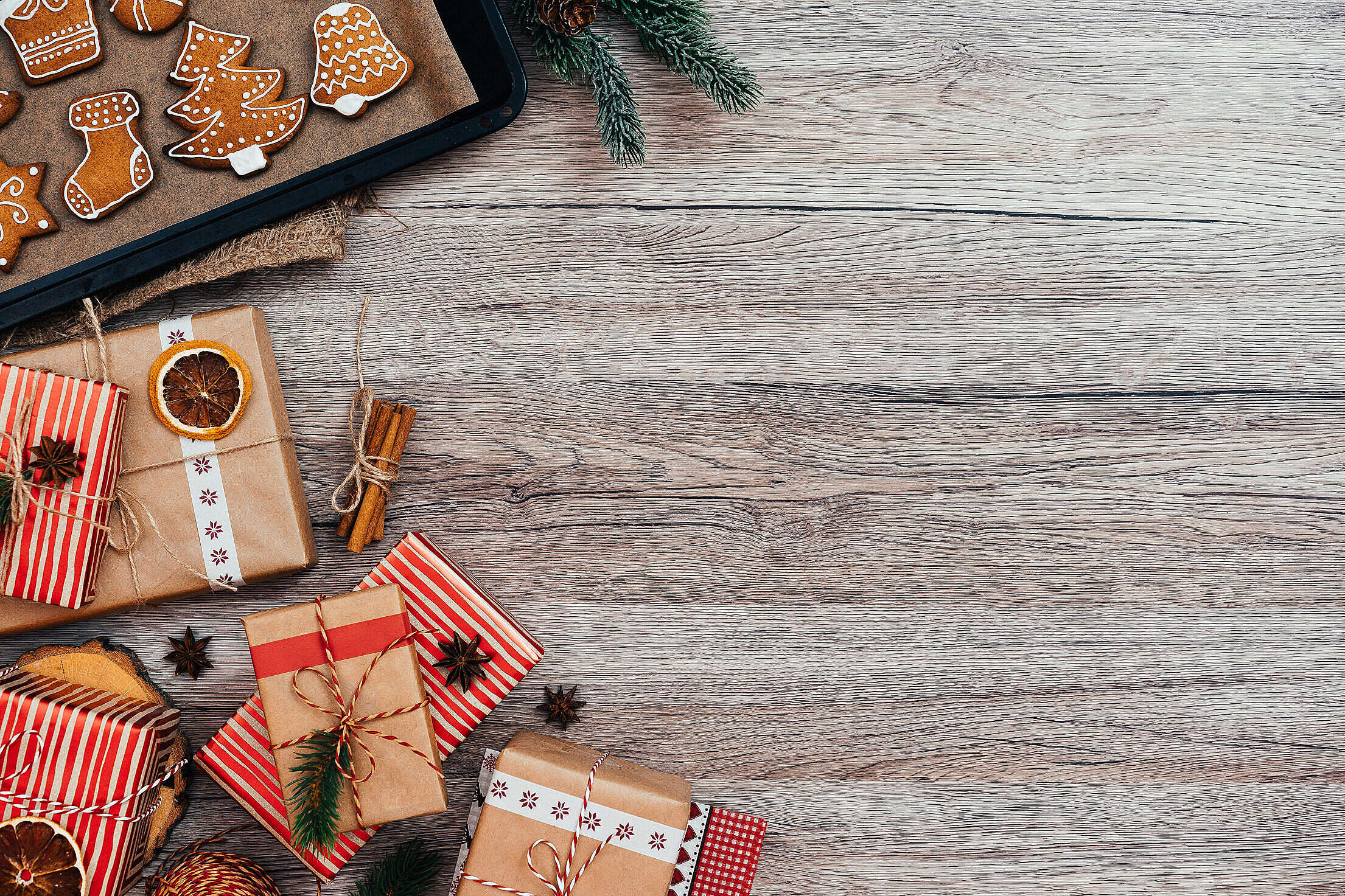 Christmas Photo with Space for Text Free Stock Photo