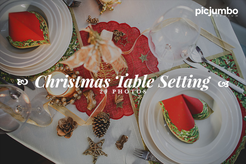 Christmas Table Setting — Join PREMIUM and get instant access to this collection!