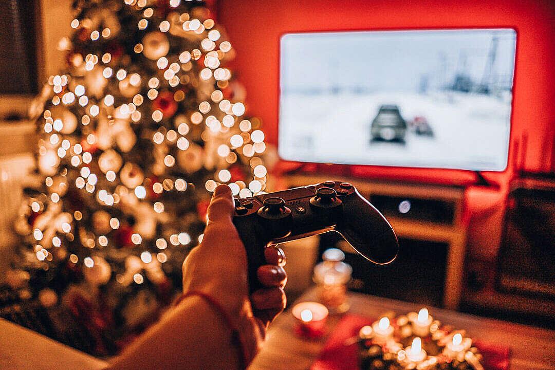 Download Christmas Playstation Gaming FREE Stock Photo