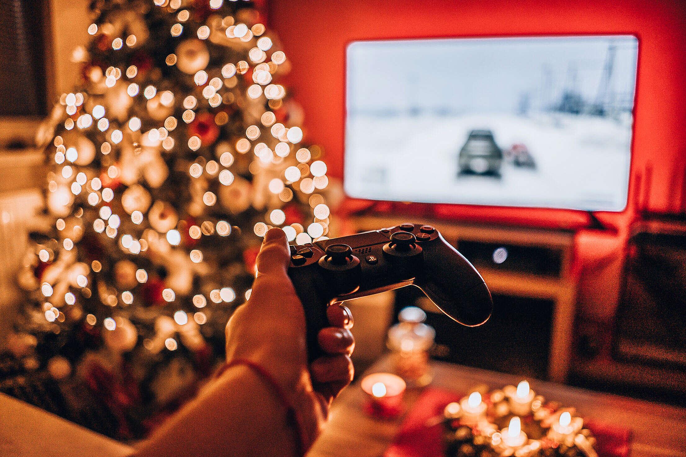 Christmas Playstation Gaming Free Stock Photo