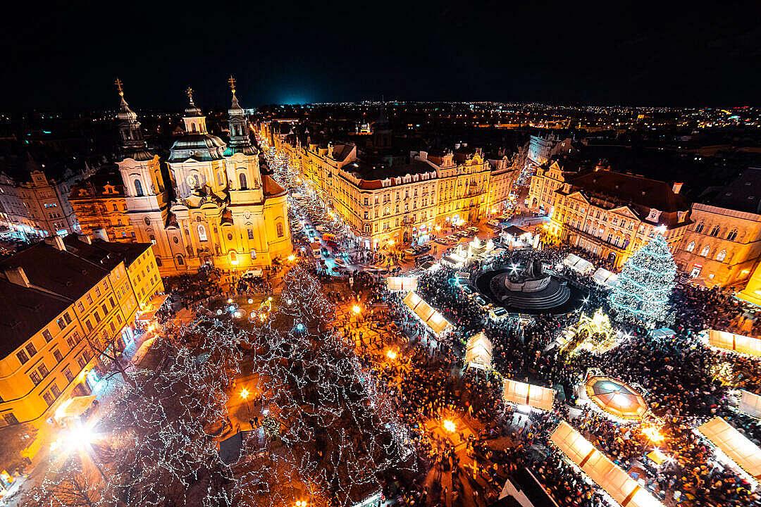 Download Christmas Prague Markets FREE Stock Photo