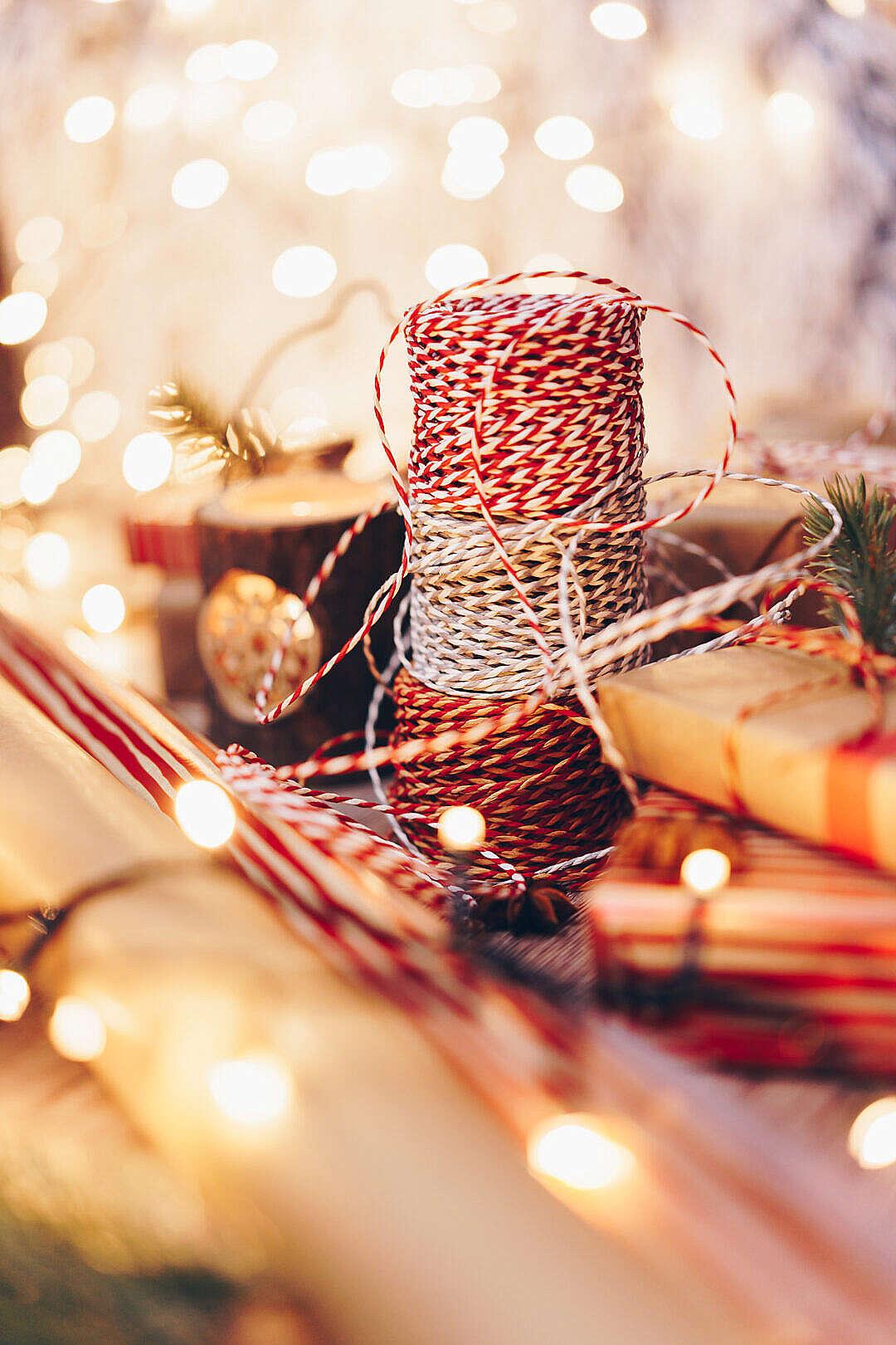Download Christmas Ribbons FREE Stock Photo