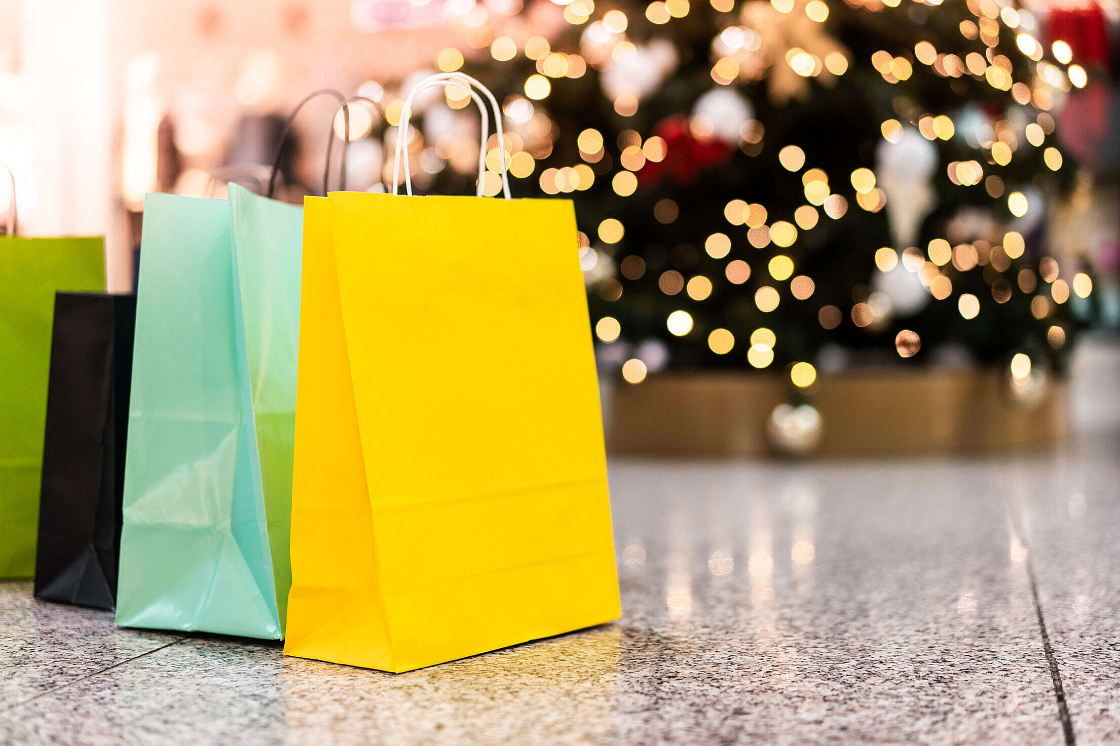 Christmas Shopping Bags Free Stock Photo