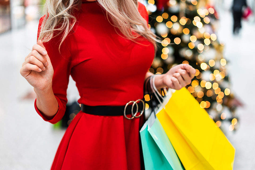 Download Christmas Shopping Mania FREE Stock Photo