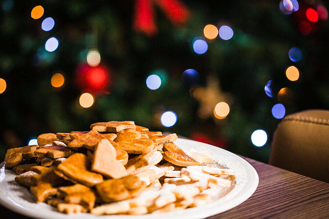 Download Christmas Sweets with Christmas Tree FREE Stock Photo