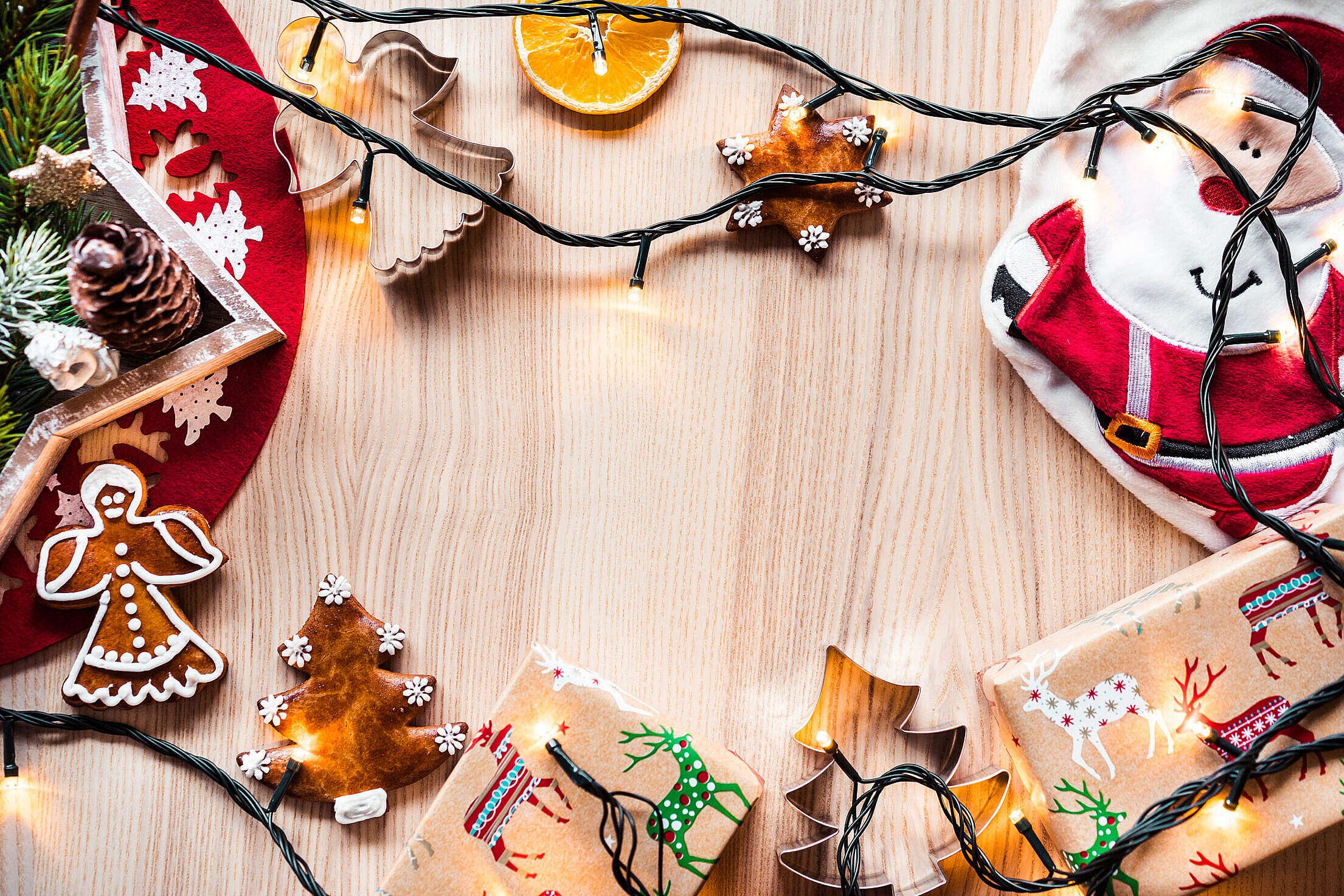 Christmas Time Decorations Hero Background Image Free Stock Photo