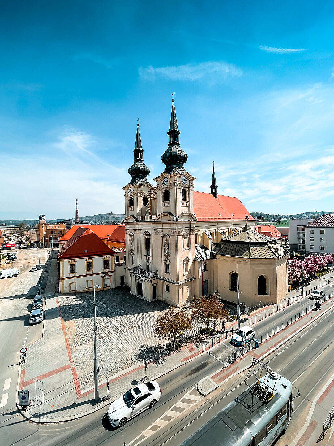 Download Church of the Assumption of the Virgin Mary in Brno FREE Stock Photo