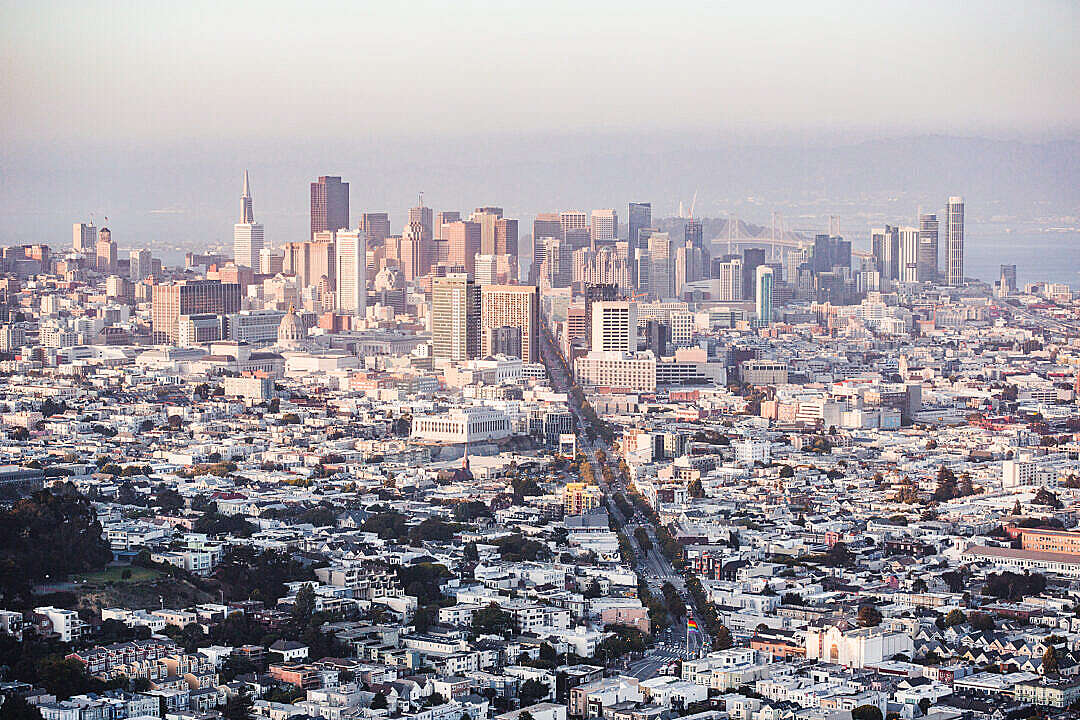 Download Cityscape View of Financial District Skyscrapers in San Francisco, California FREE Stock Photo