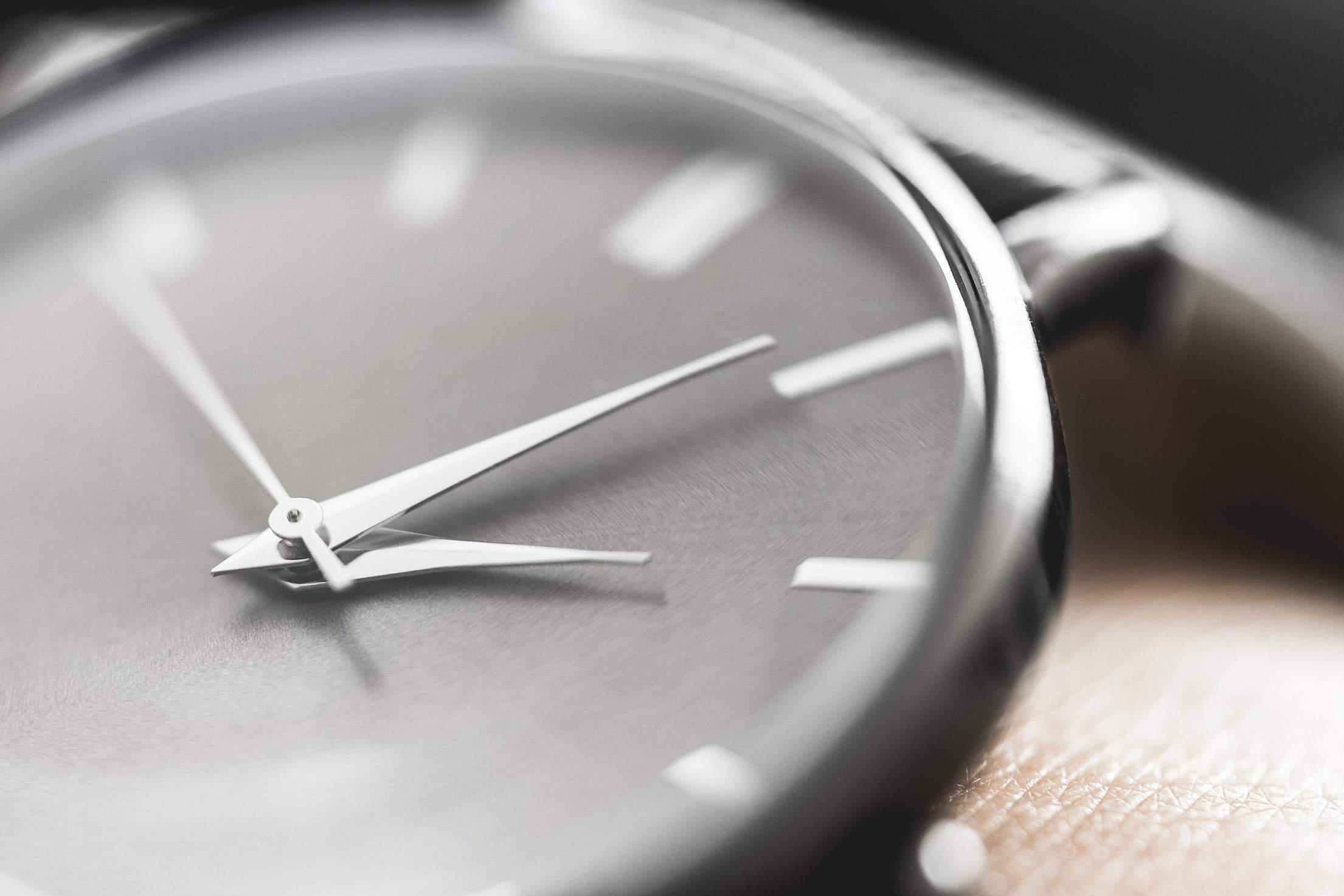 Classic Minimalistic Watches on Wrist Close Up Free Stock Photo