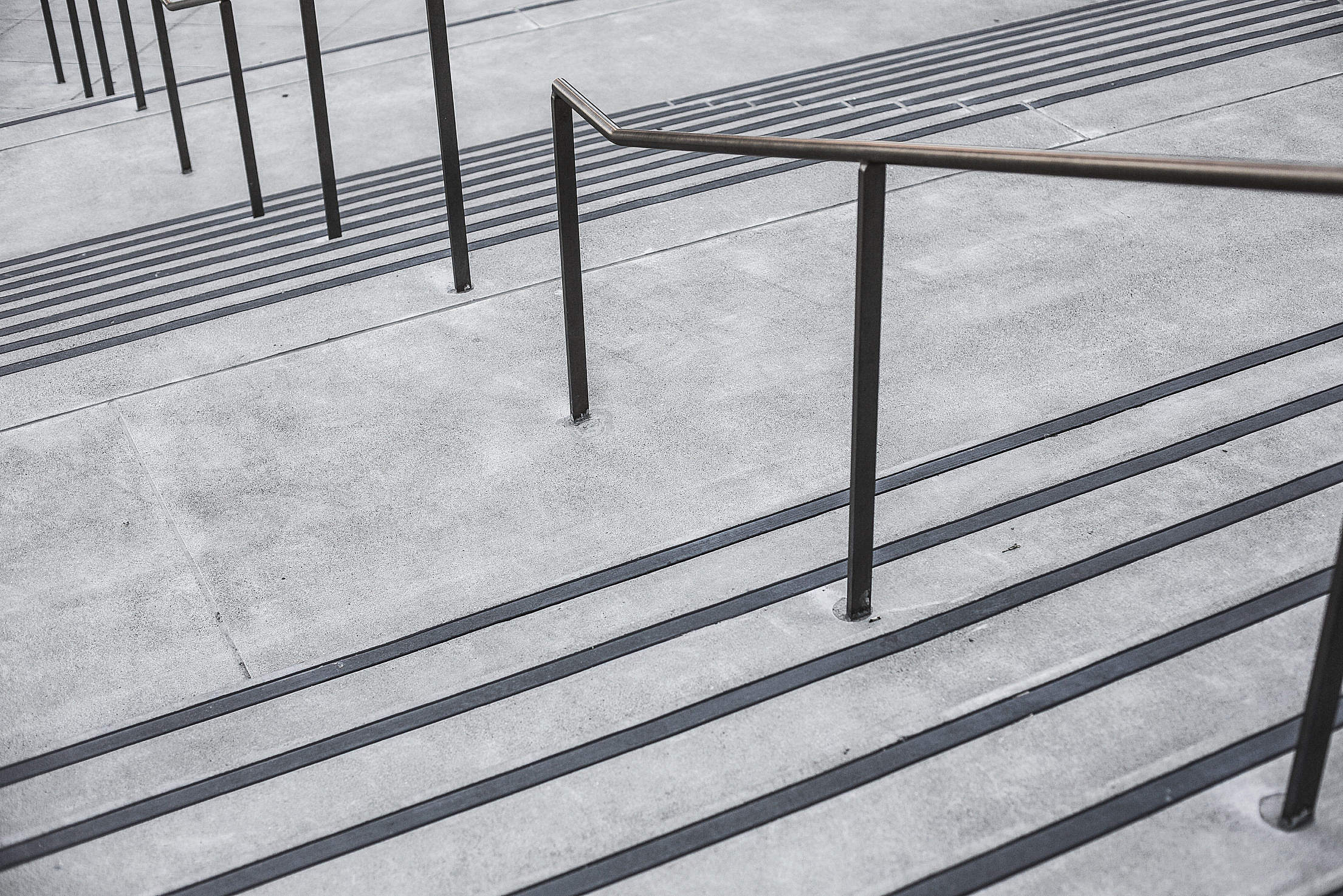 Clean Minimalistic Concrete Stairs Free Stock Photo