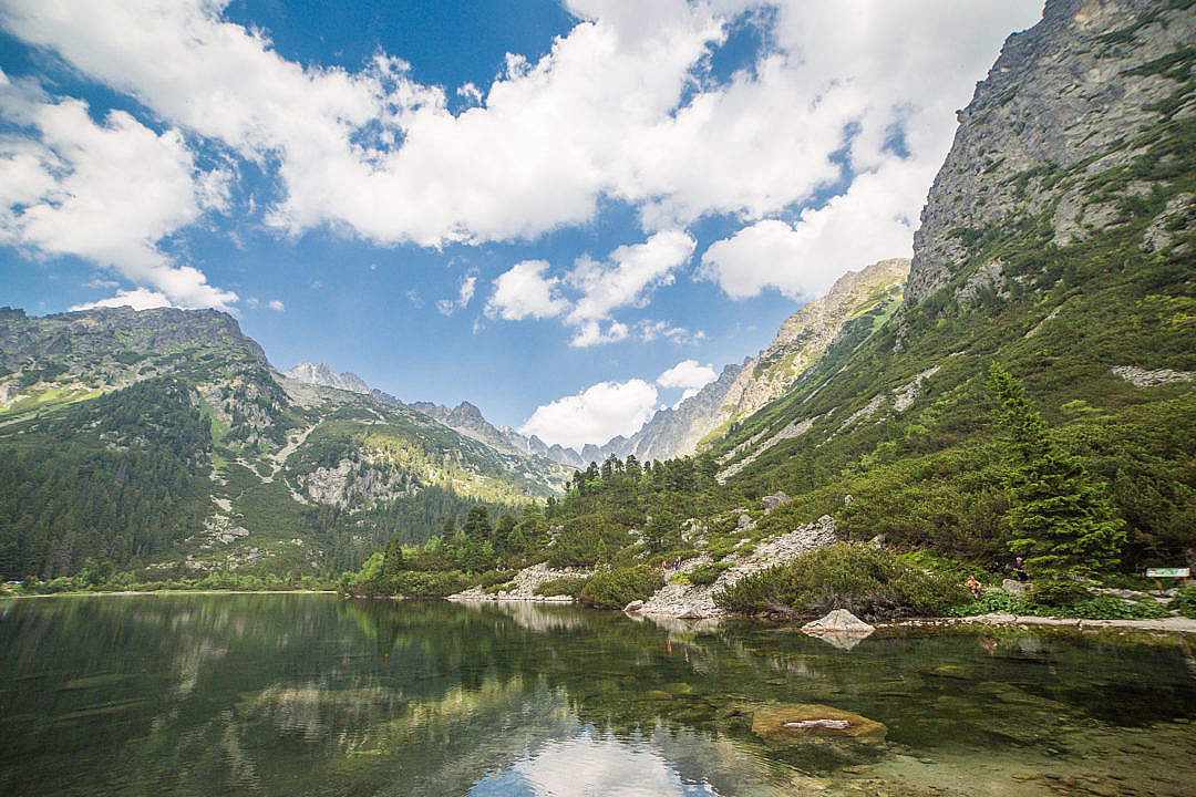 Download Clear Lake in High Tatras, Slovakia FREE Stock Photo