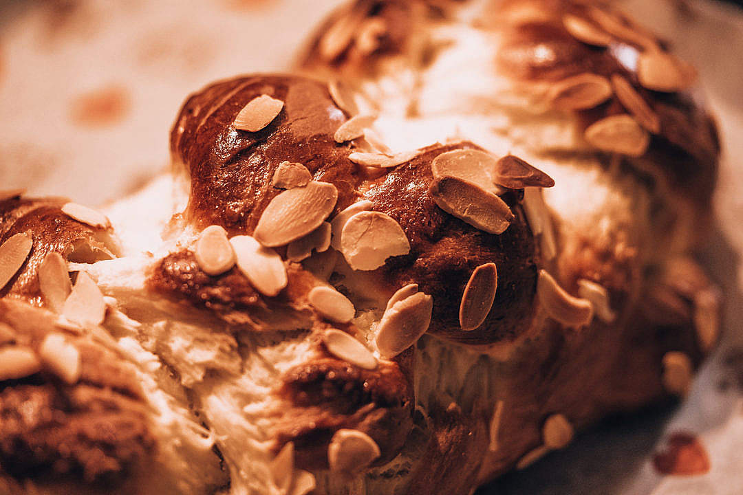 Download Close-up on a Sweet Fancy Bread FREE Stock Photo