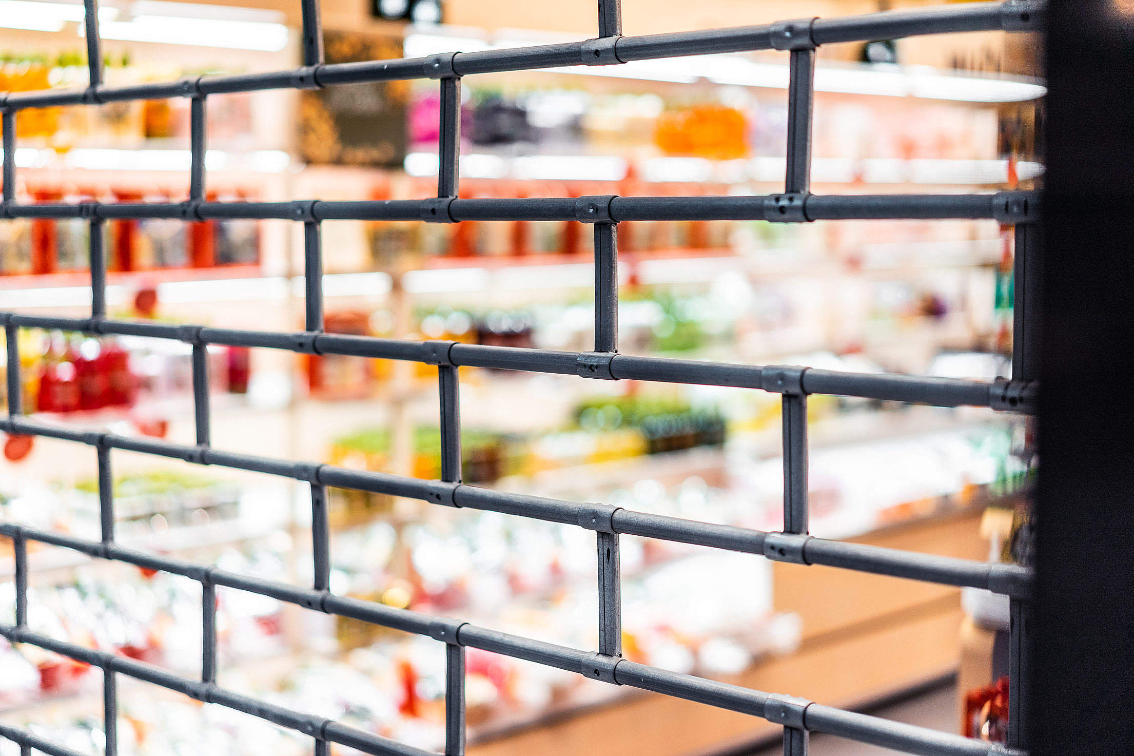 Closed Retail Store Security Free Stock Photo
