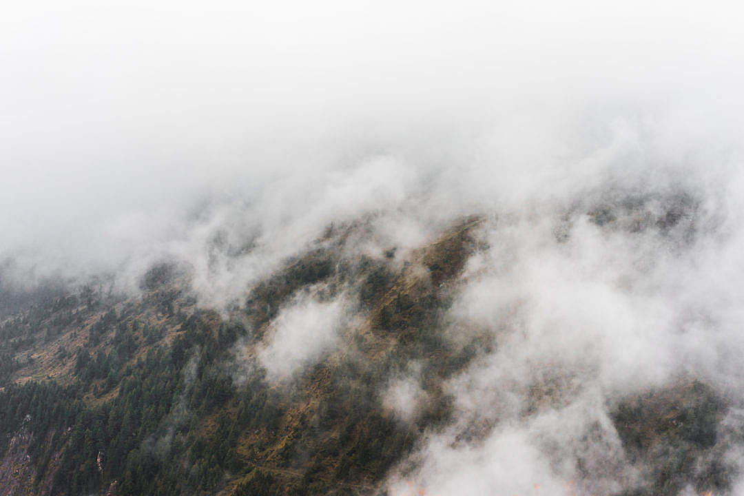 Download Cloudy Weather in the Mountains FREE Stock Photo
