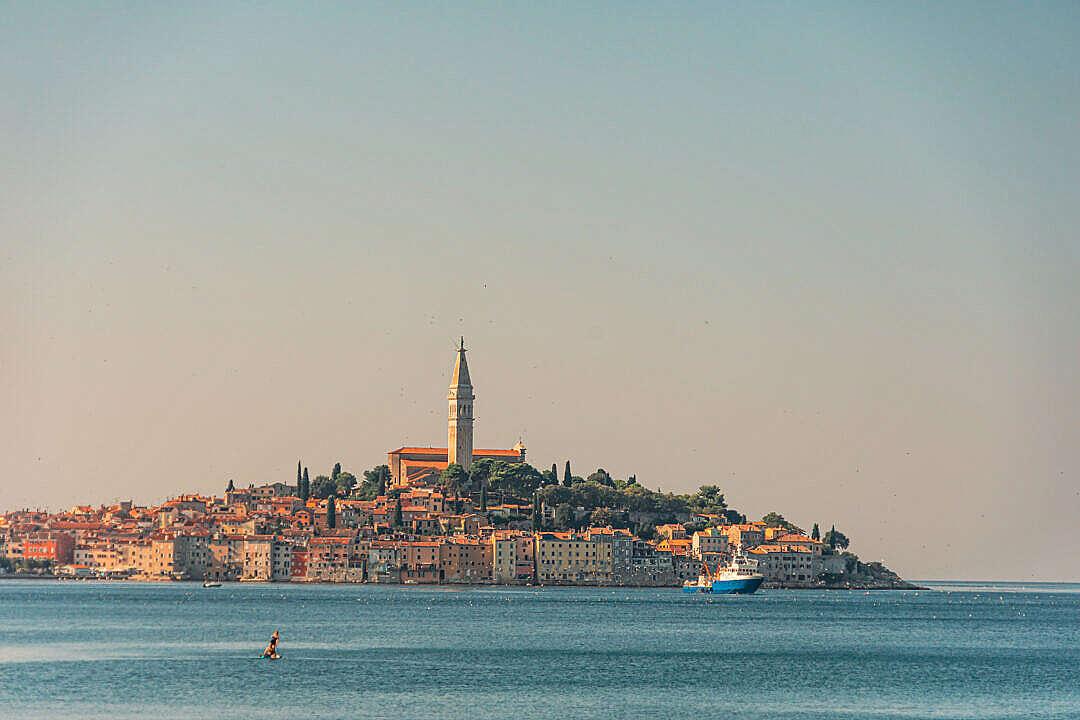 Download Coastal Town of Rovinj, Istria, Croatia FREE Stock Photo