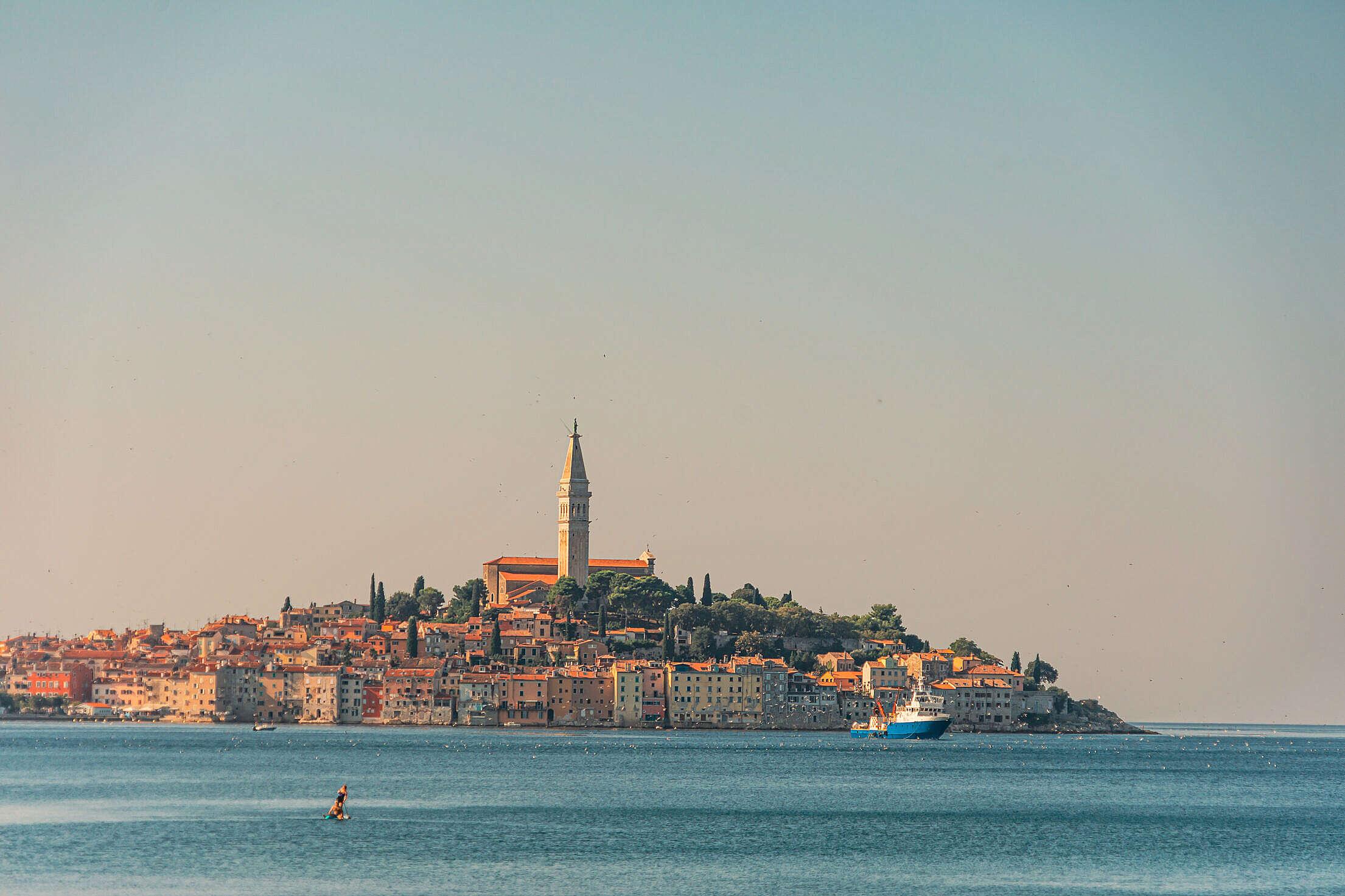 Coastal Town of Rovinj, Istria, Croatia Free Stock Photo