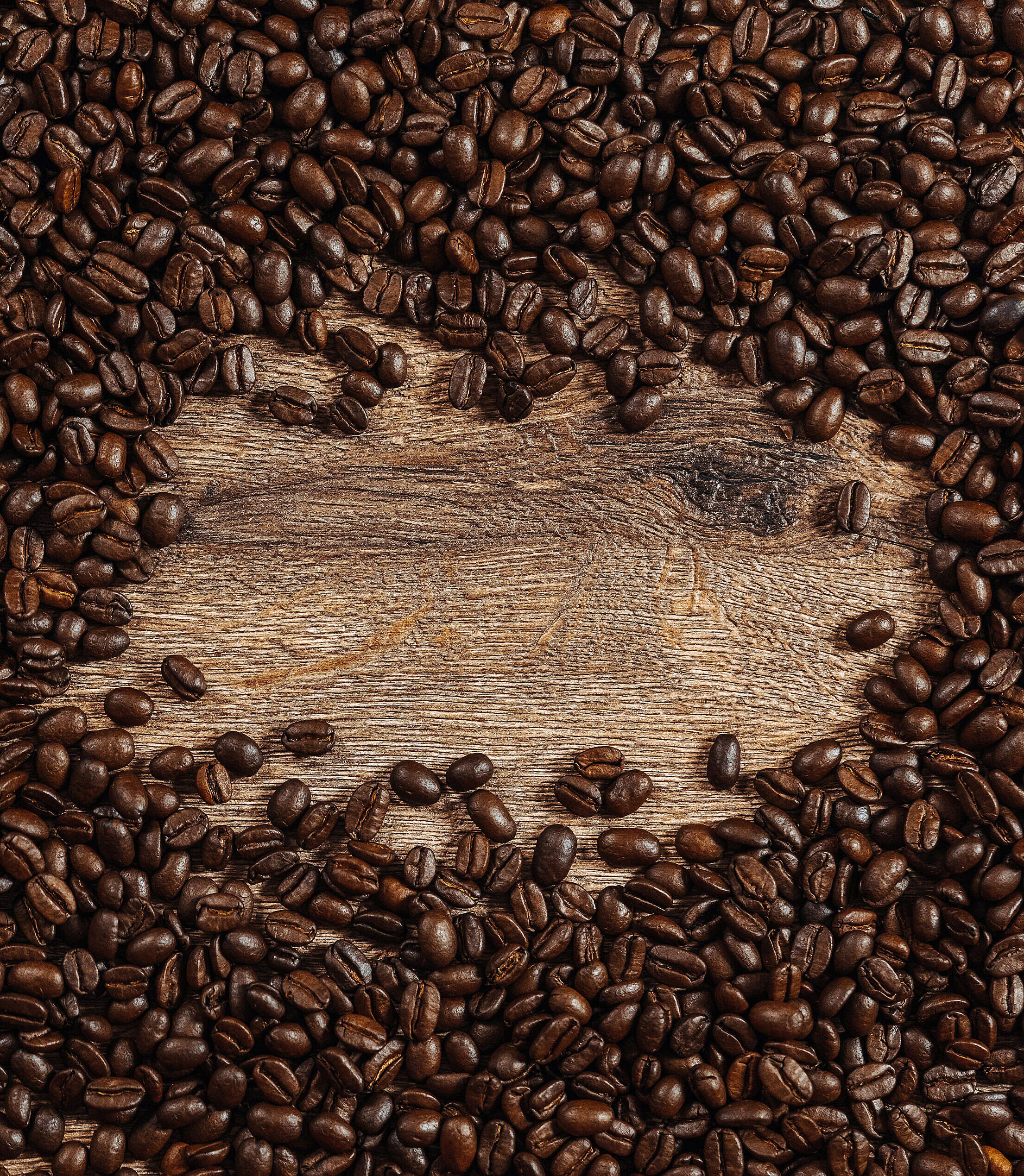Coffee Beans Background with Space For Text Free Stock Photo