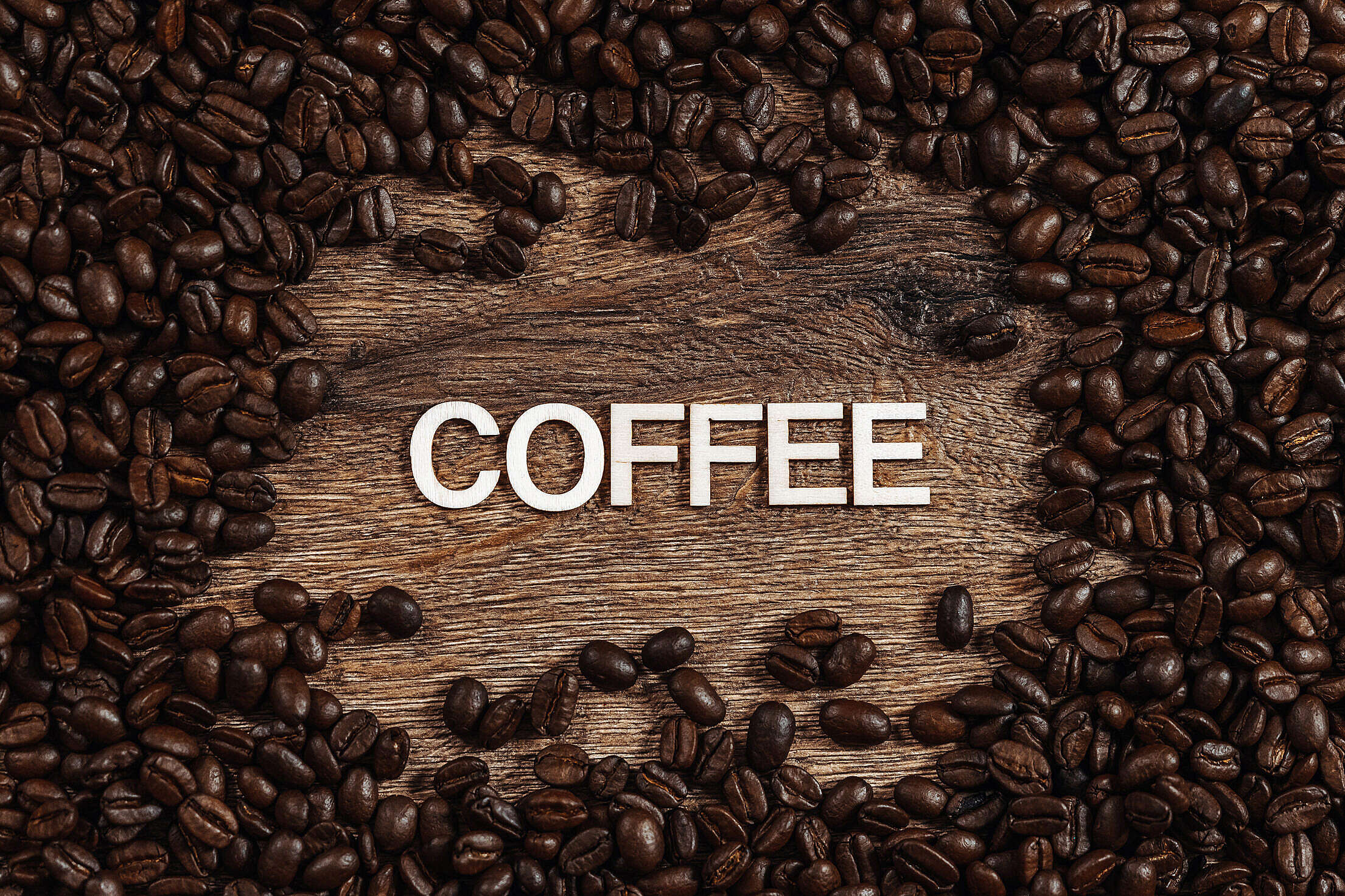 Coffee Typography Free Stock Photo