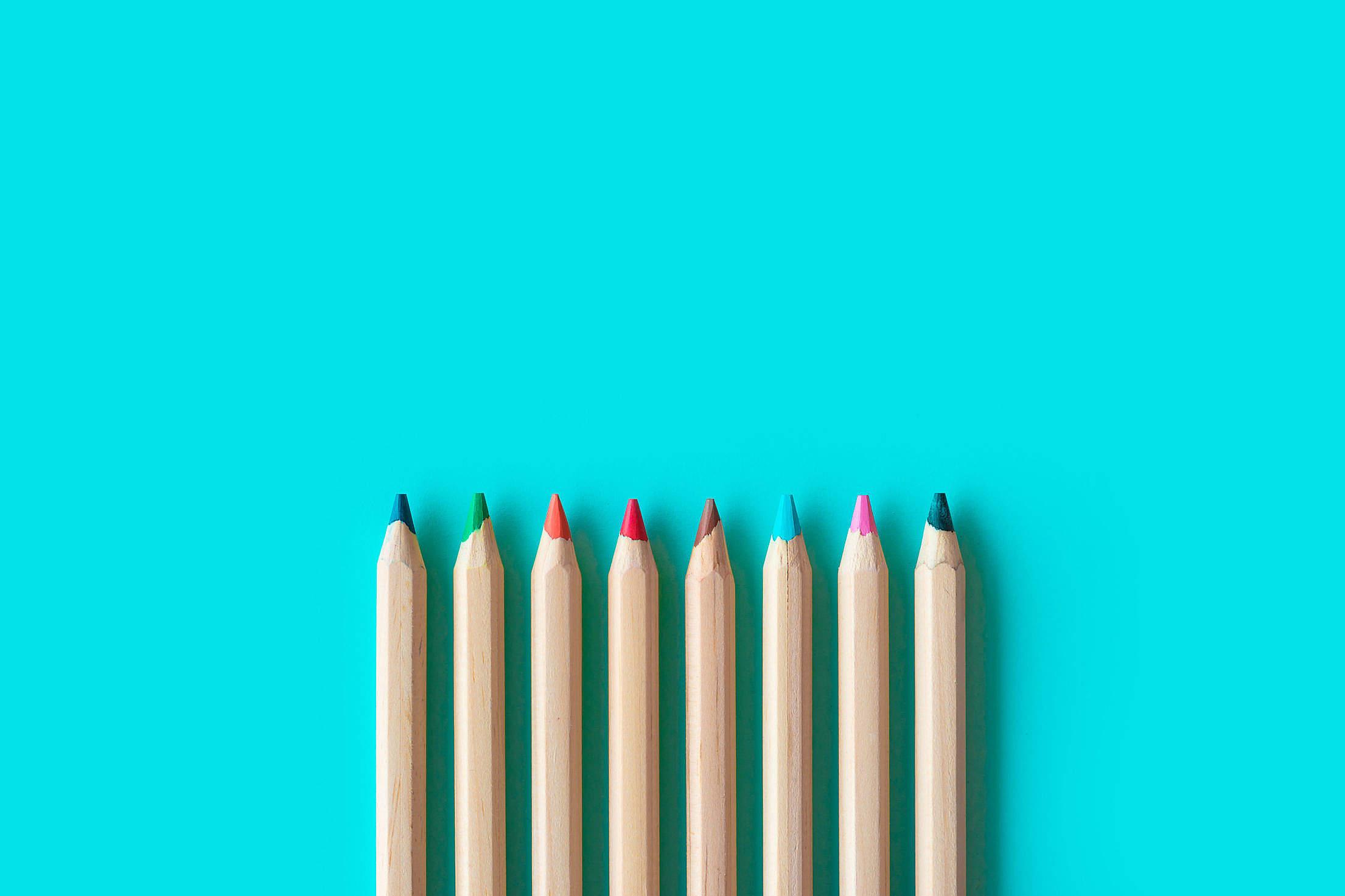 Colored Pencils Free Stock Photo