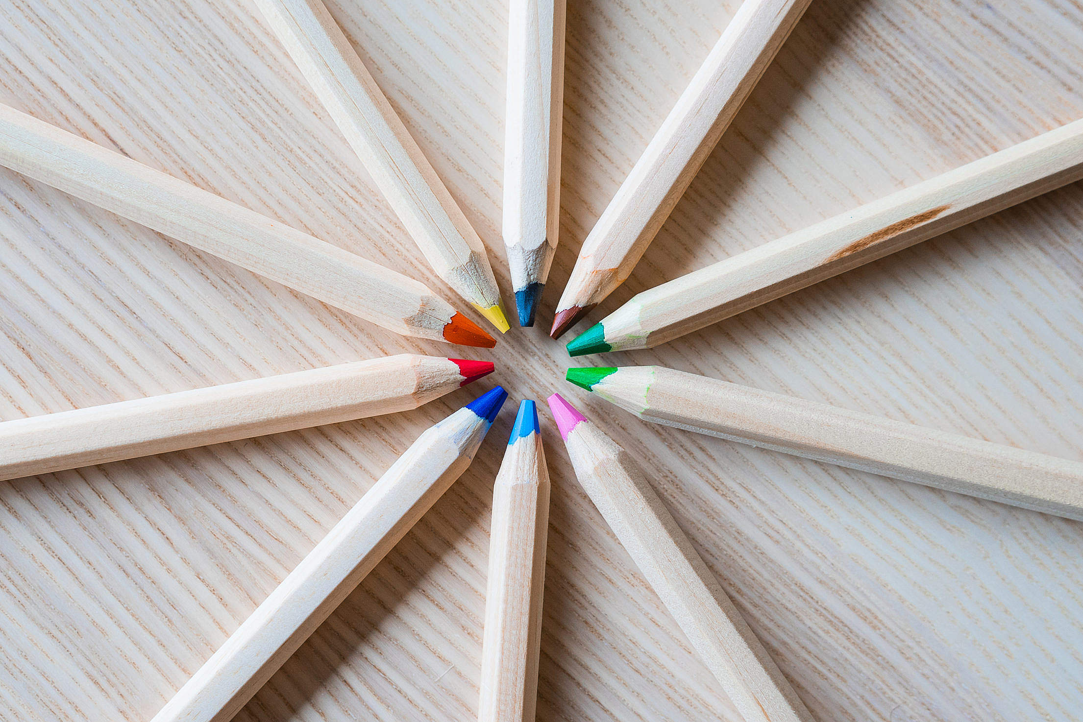 Colored Pencils For Kids Free Stock Photo