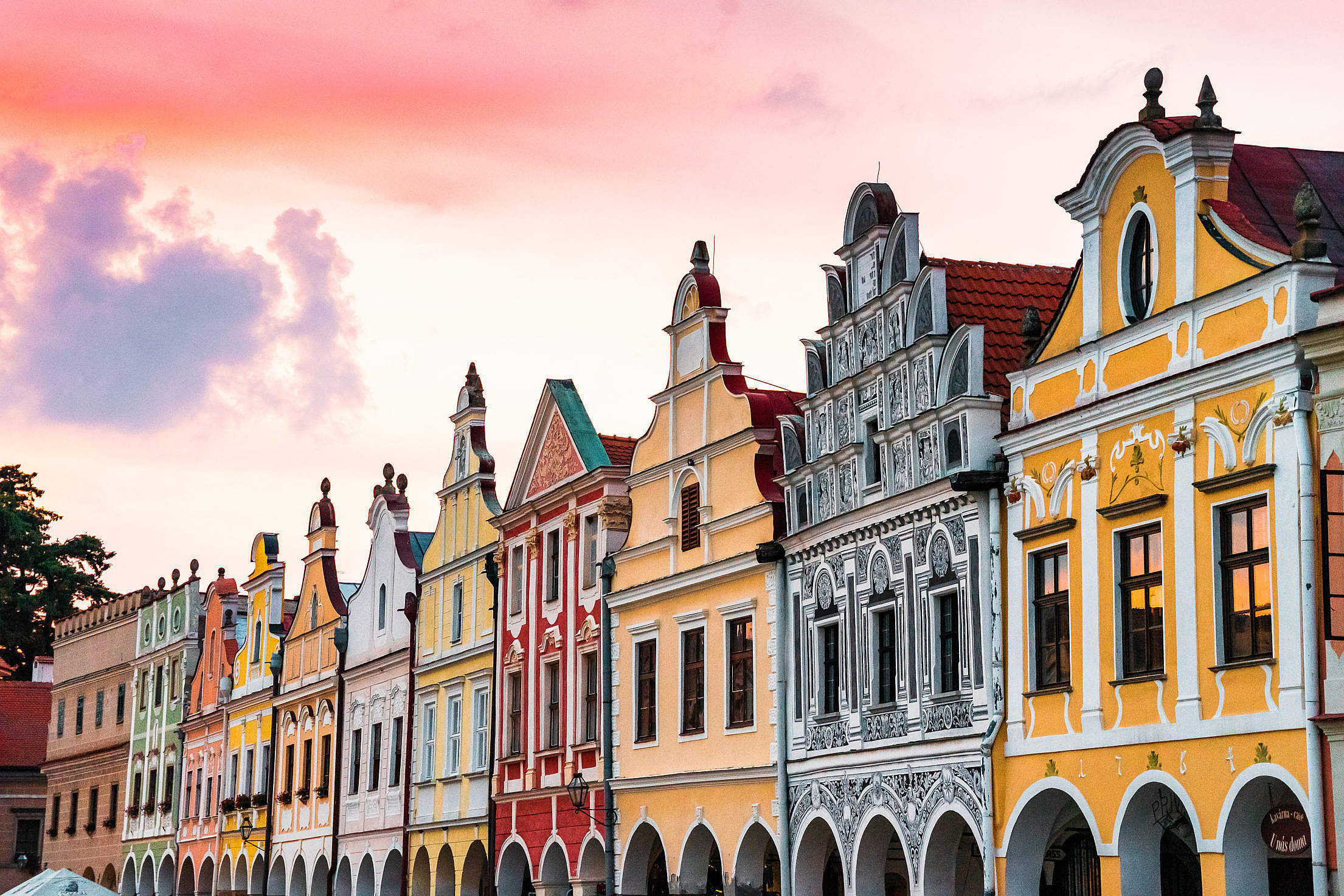 Download Colorful Architecture in Telč, Czechia Free Stock Photo