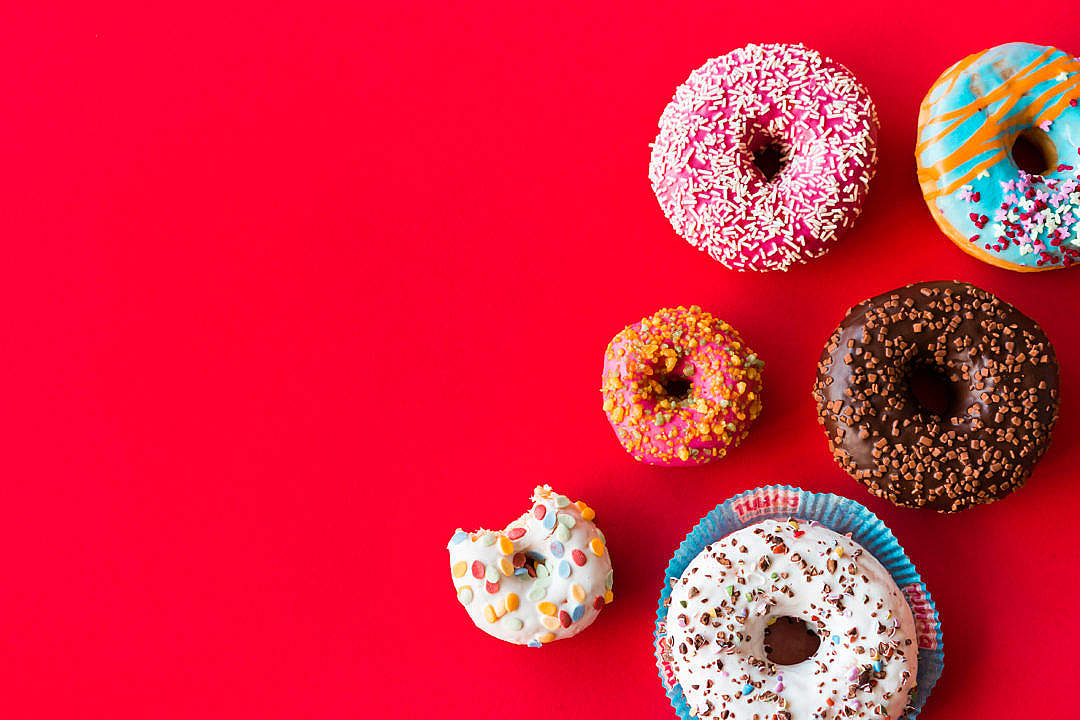 Download Colorful Donuts FREE Stock Photo