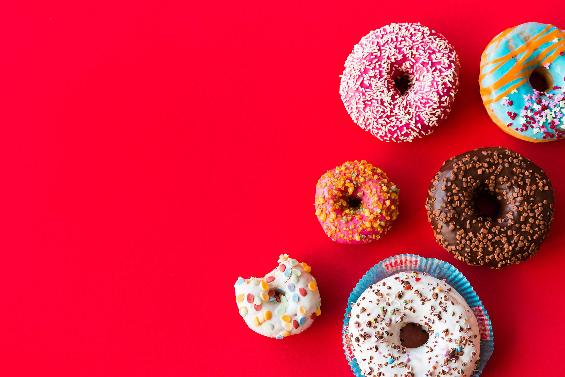 Colorful Donuts Free Stock Photo