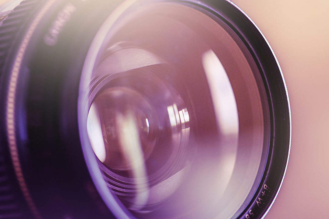 Download Colorful DSLR Lens Close Up FREE Stock Photo