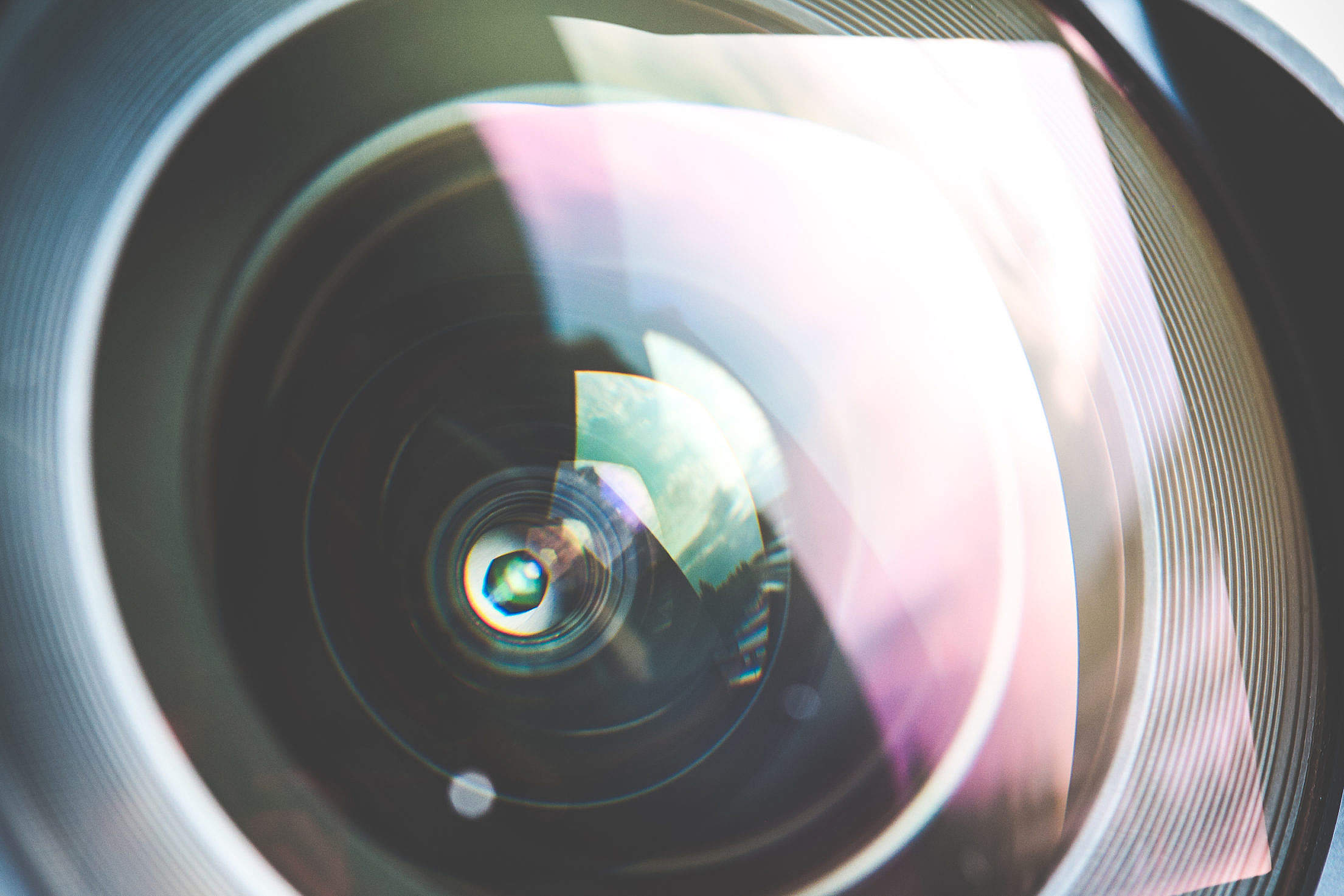 Colorful DSLR Wide Lens Close Up Free Stock Photo