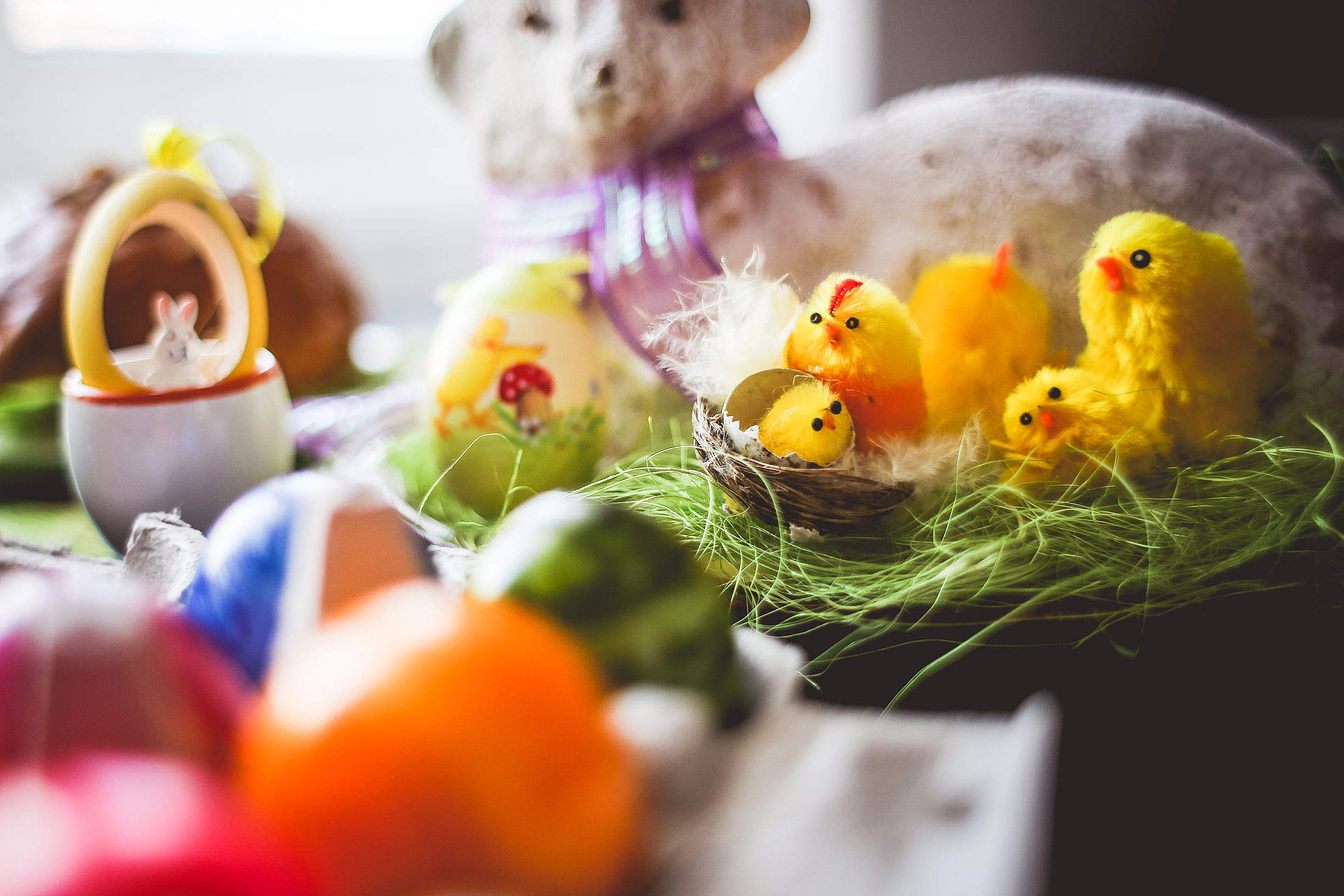 Colorful Easter Decorations Free Stock Photo