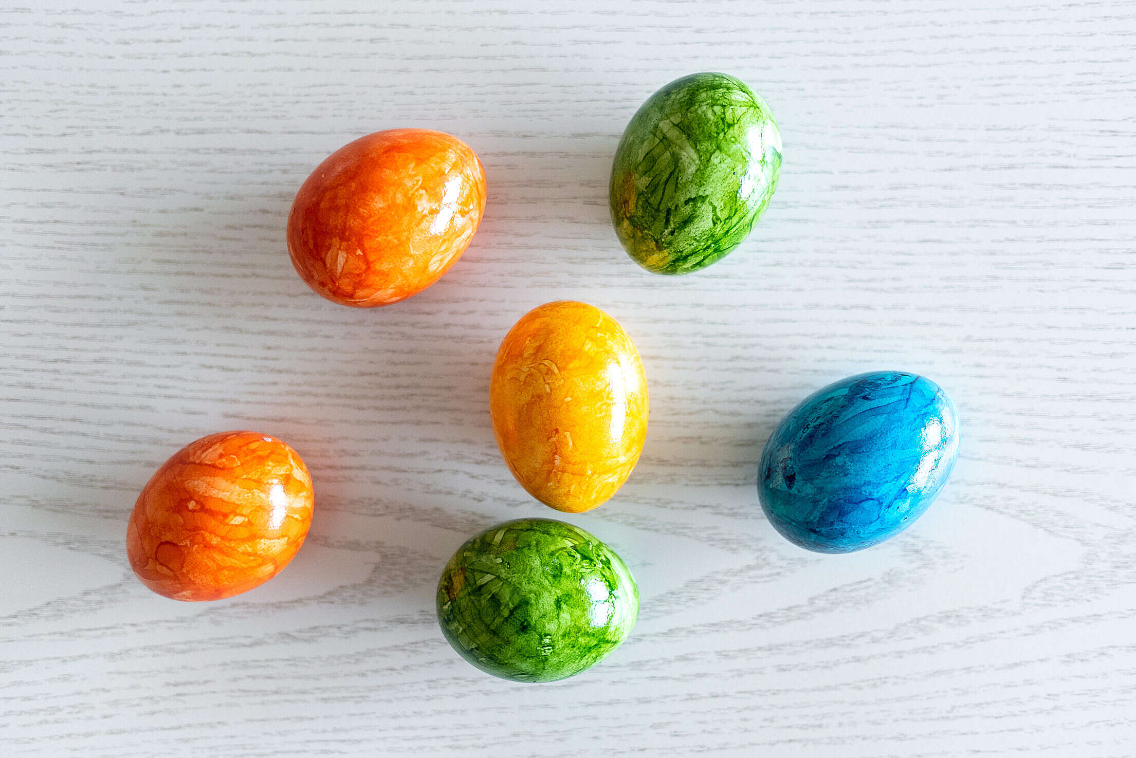 Colorful Easter Eggs Close Up Free Stock Photo