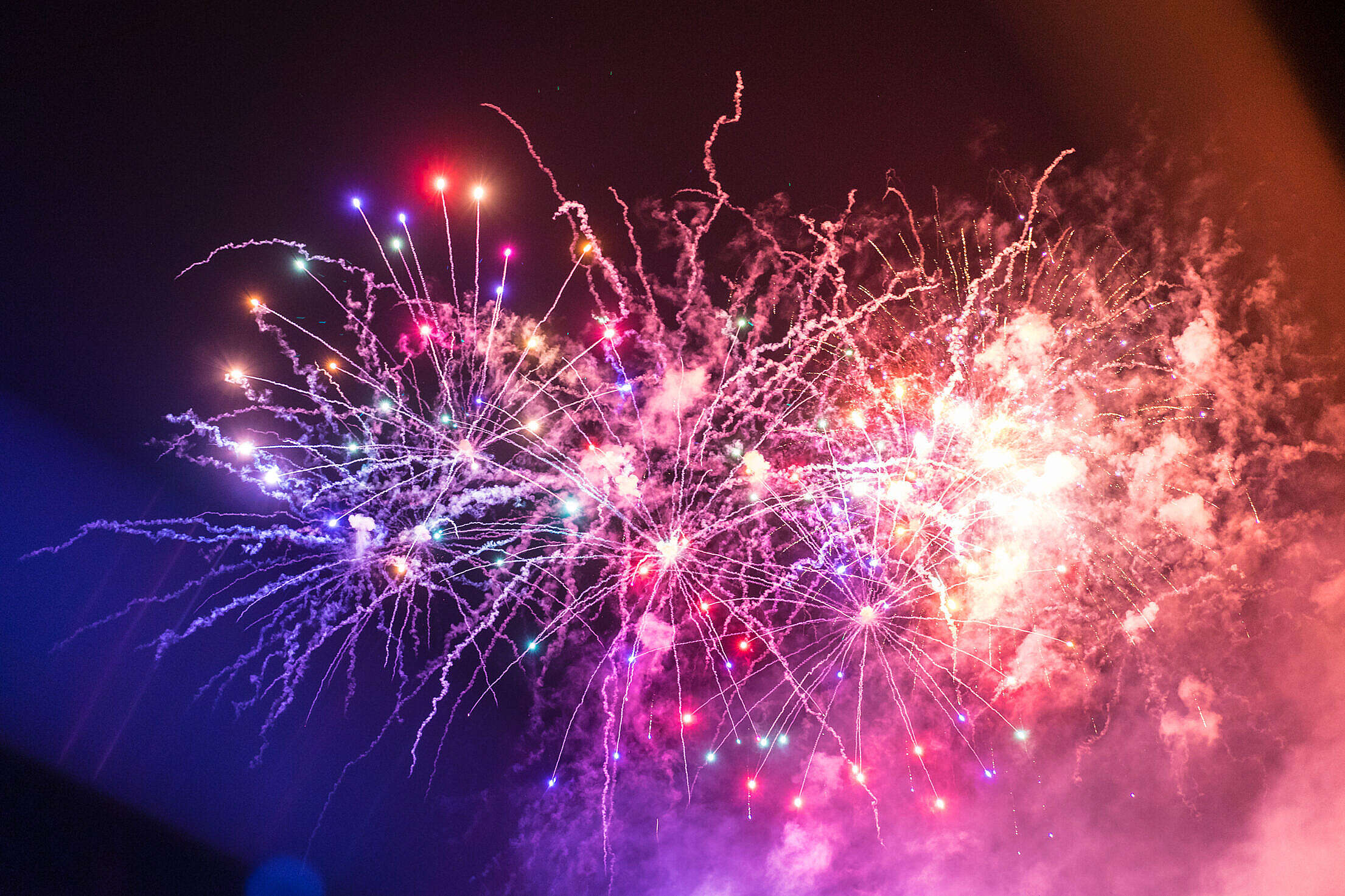 Colorful Fireworks 4th of July Free Stock Photo