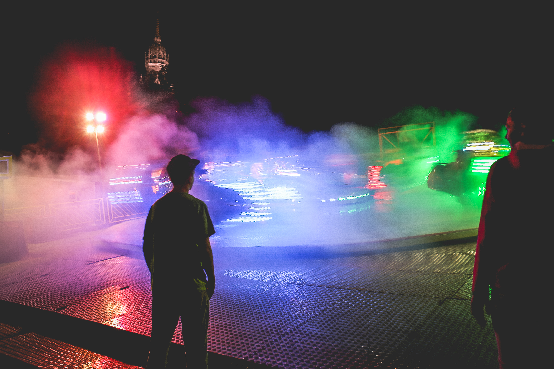 Download Colorful Fun Fair Night Ride FREE Stock Photo