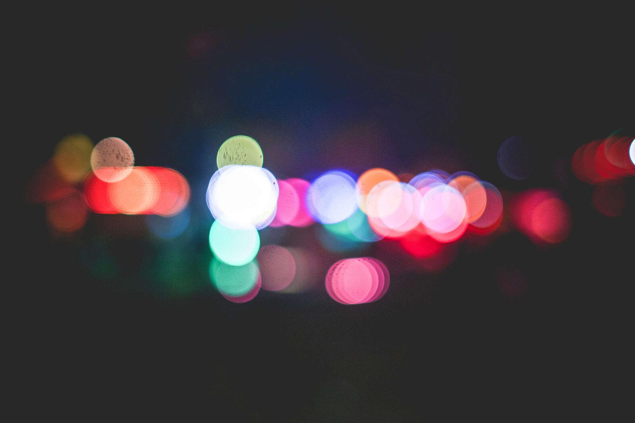 Colorful Funfair Bokeh Free Stock Photo