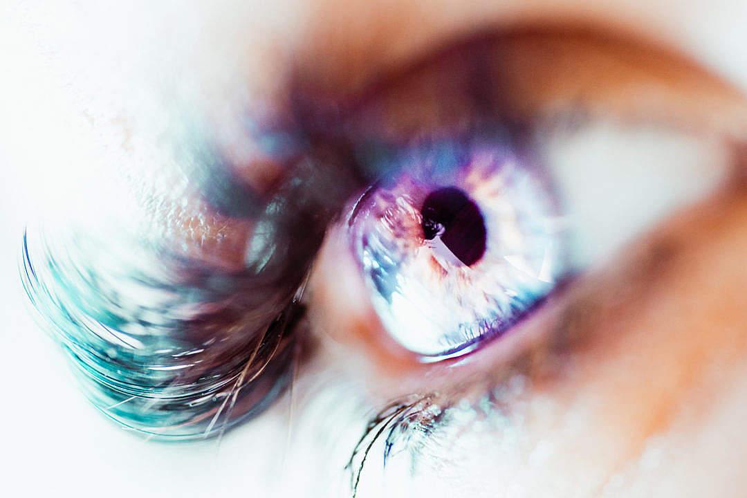 Download Colorful Macro Image of Human Eye FREE Stock Photo