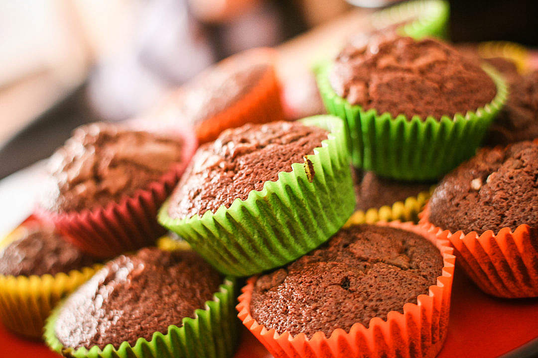 Download Colorful Muffins FREE Stock Photo