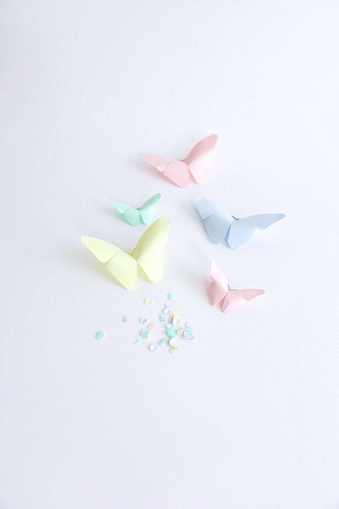 Download Colorful Origami Butterflies FREE Stock Photo