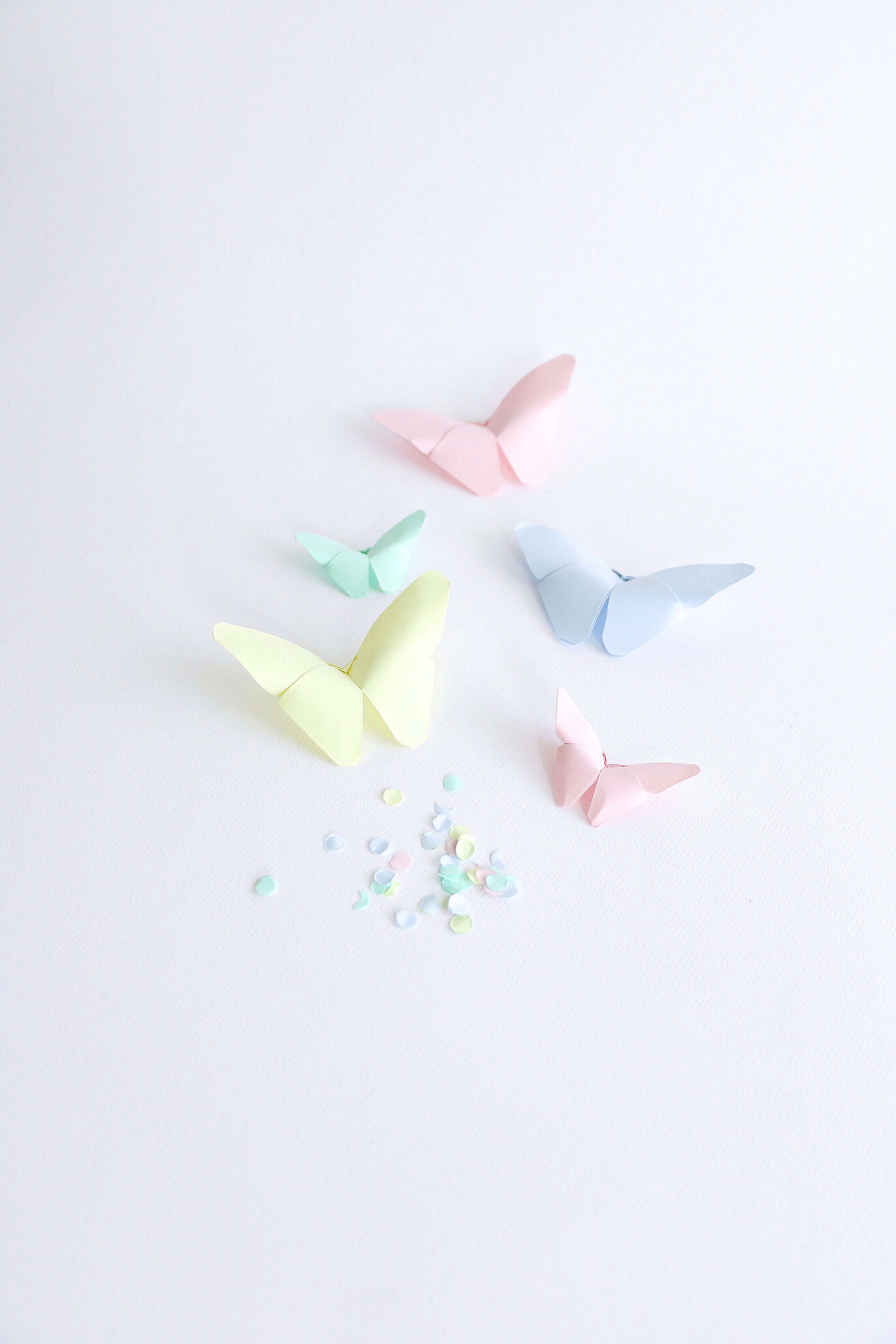 Colorful Origami Butterflies Free Stock Photo