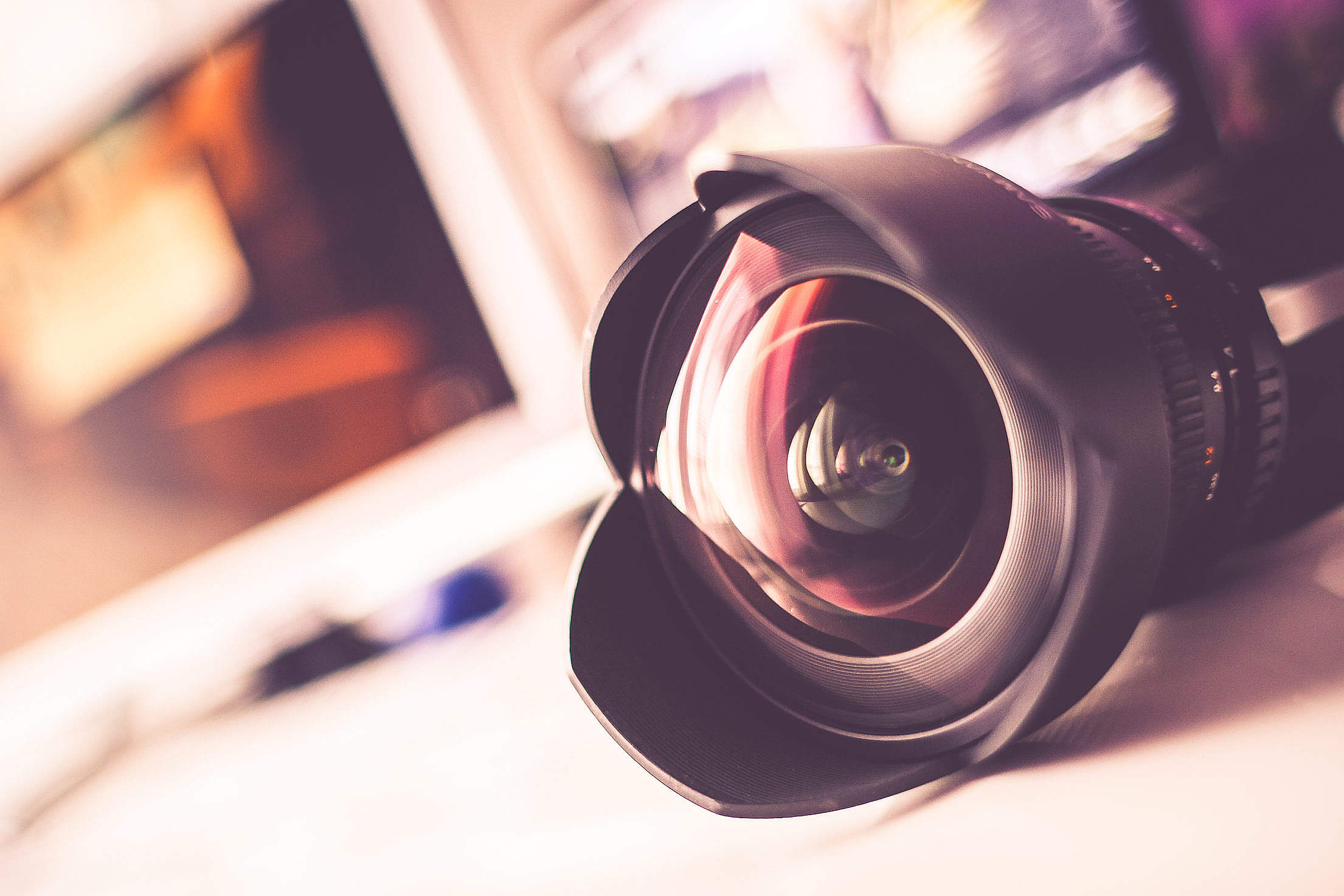Colorful Wide Angle Lenses Free Stock Photo