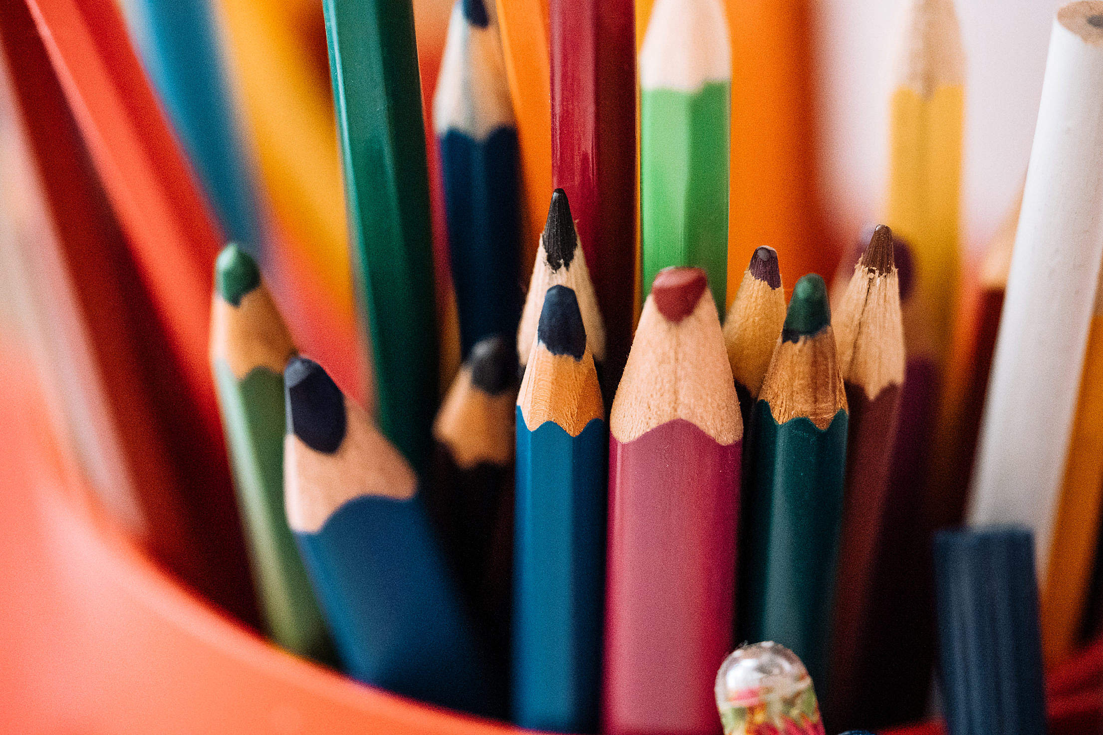 Coloured Pencils Free Stock Photo
