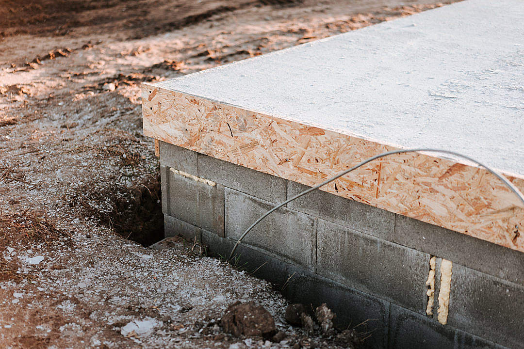 Download Concrete Slab-On-Grade House Foundations FREE Stock Photo