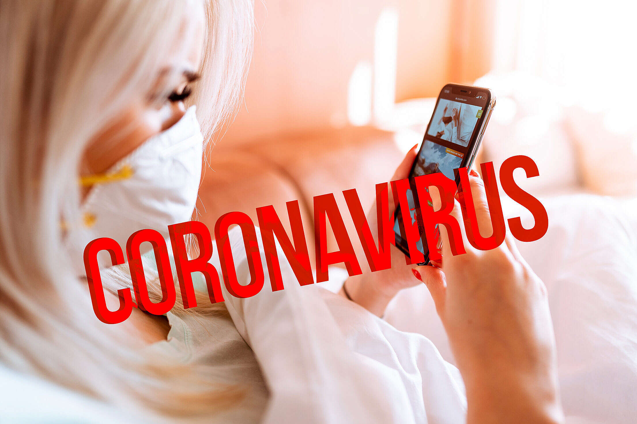 Coronavirus Self-Isolation Home Quarantine Free Stock Photo
