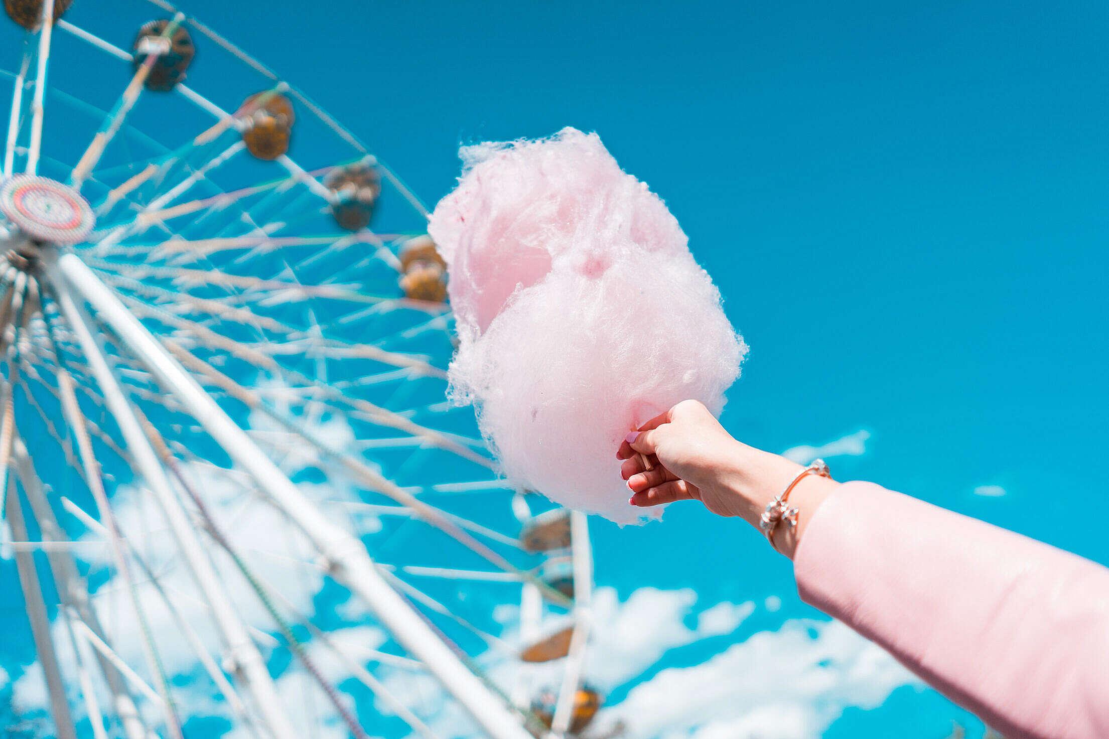 Cotton Candy Free Stock Photo
