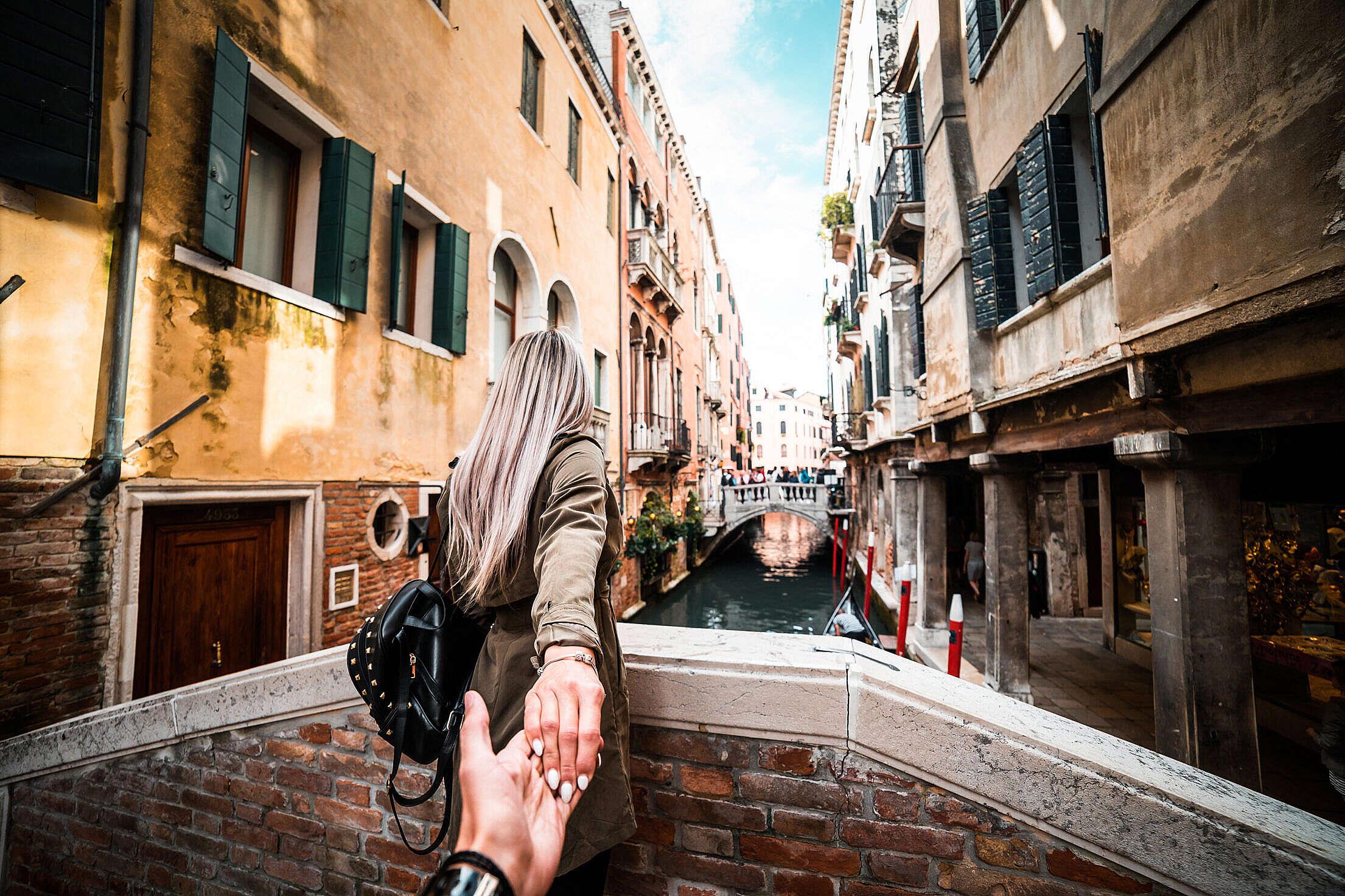 Couple in Venice, Italy Travel Free Stock Photo