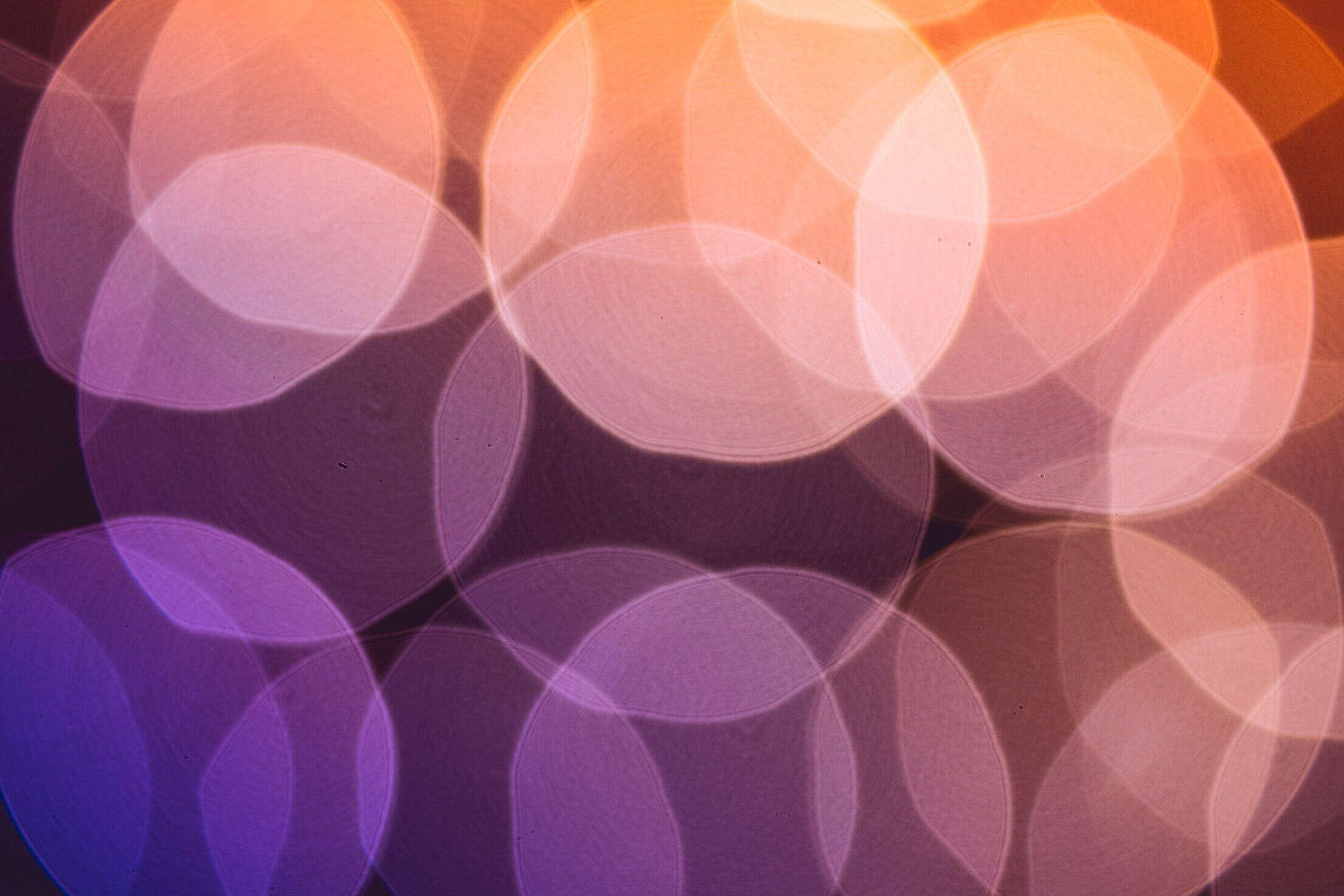 Crazy Real Lights Violet & Orange Colorful Bokeh Free Stock Photo