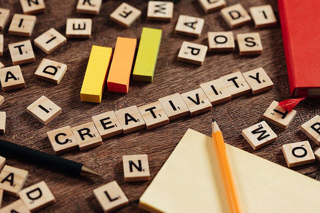 Download Creativity Text FREE Stock Photo