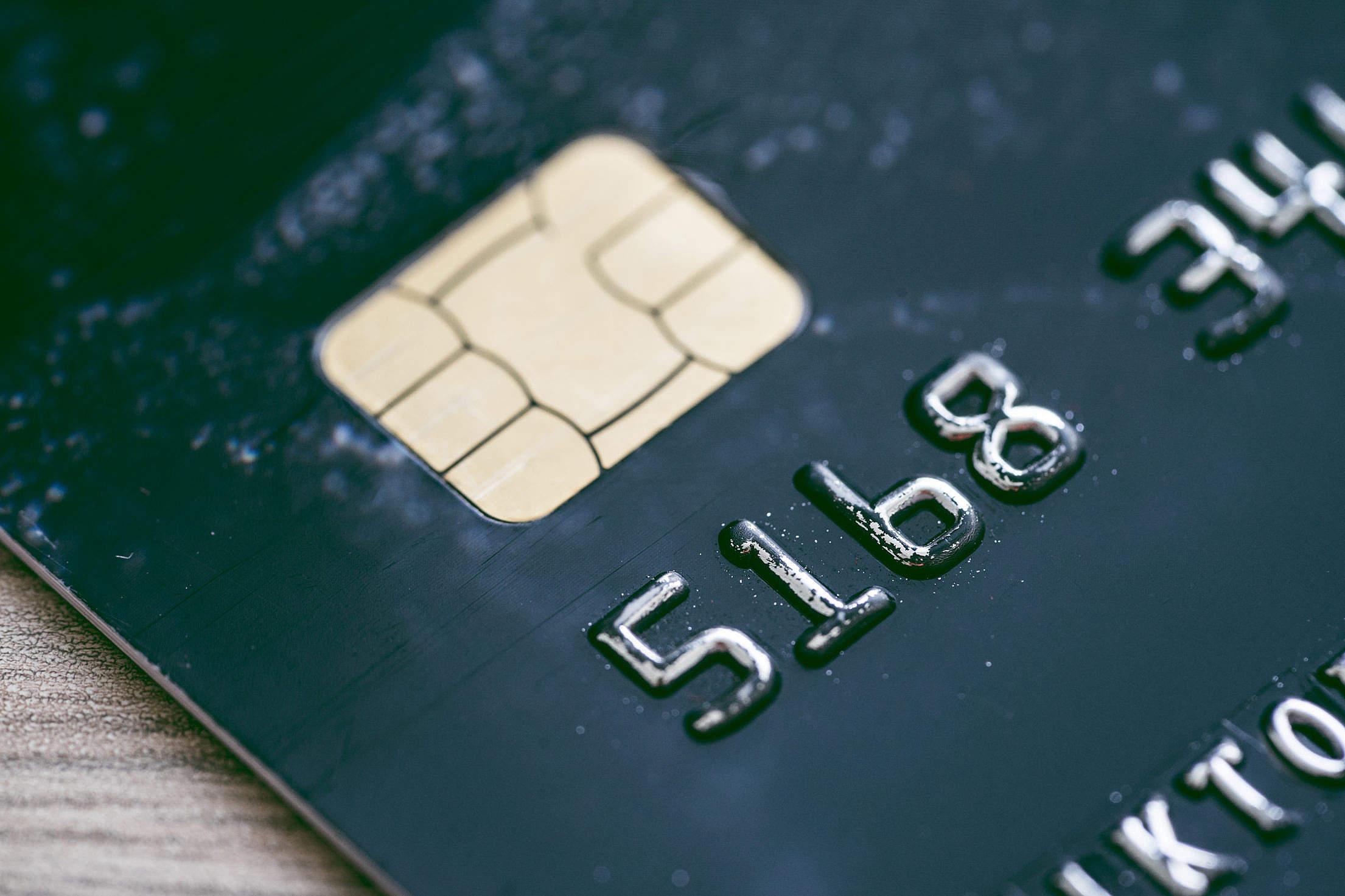 Credit Bank Card Chip Close Up Free Stock Photo